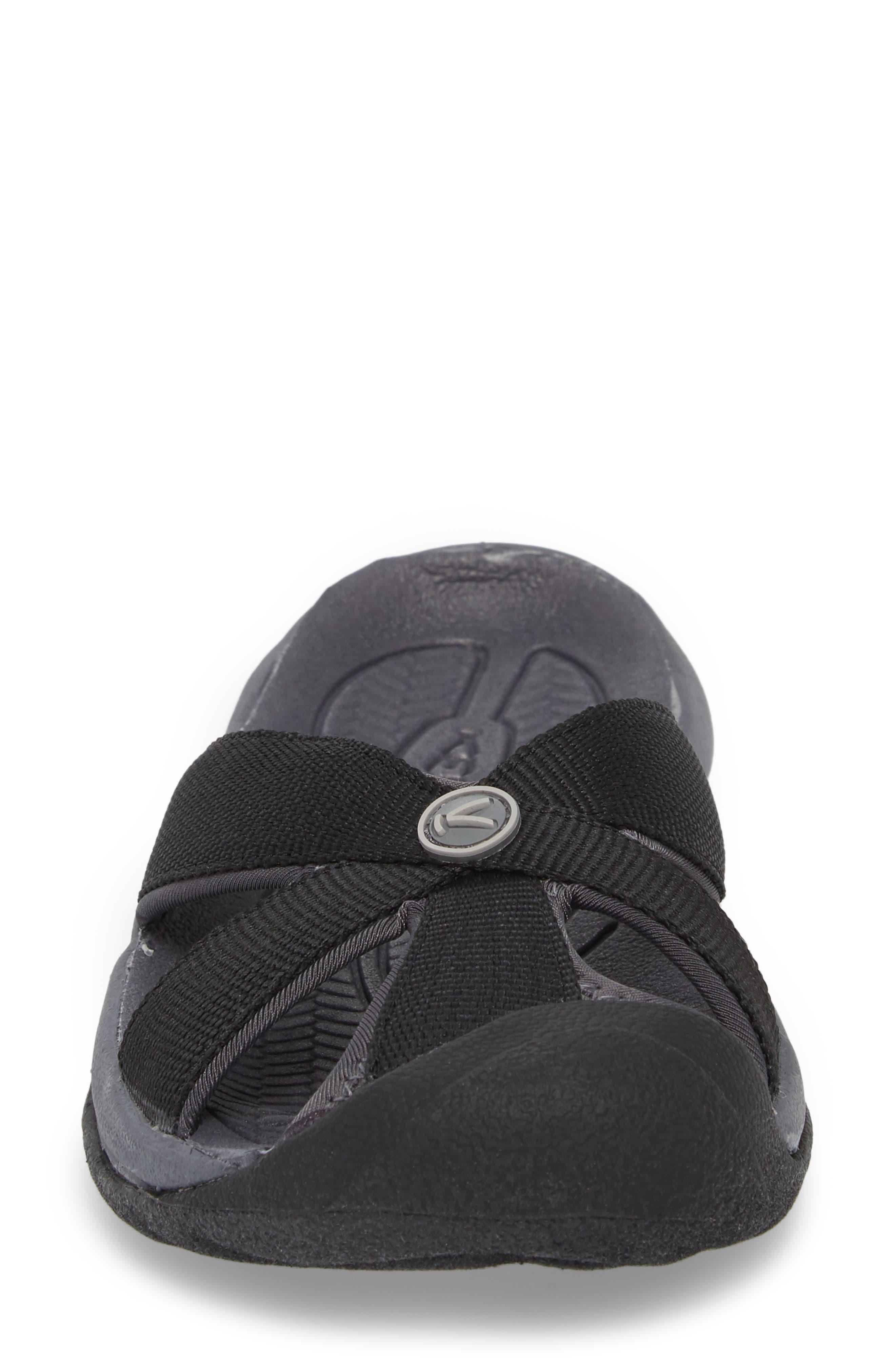KEEN, 'Bali' Sandal, Alternate thumbnail 4, color, BLACK/ MAGNET