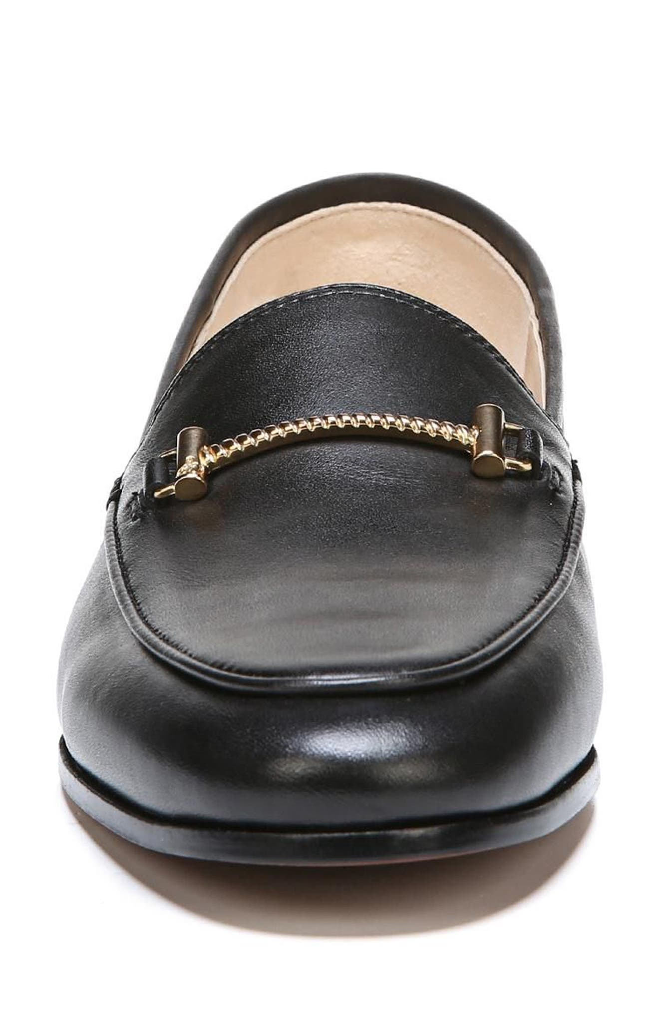 SAM EDELMAN, Lior Loafer, Alternate thumbnail 4, color, BLACK LEATHER