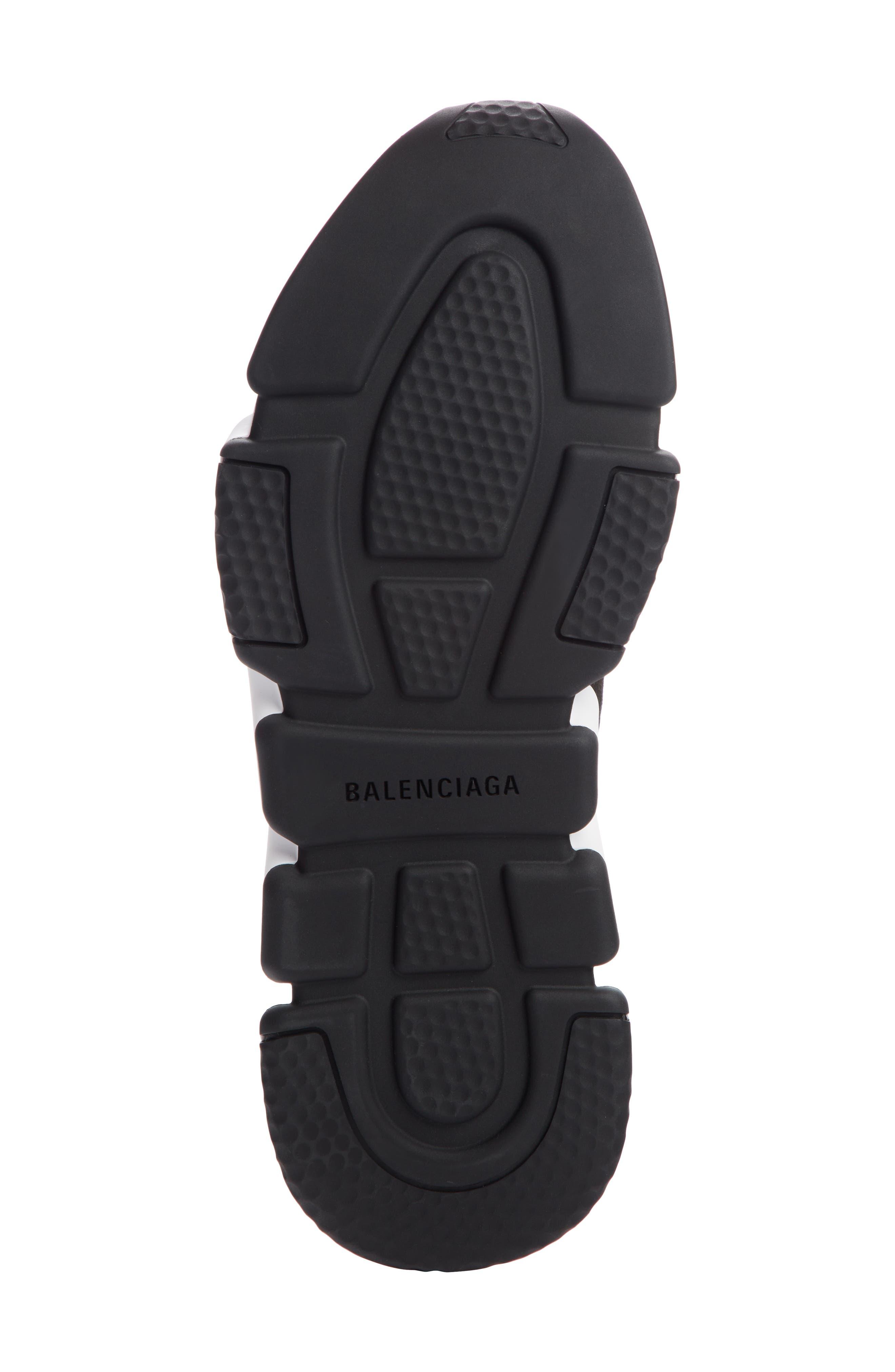 BALENCIAGA, Speed Sock Slip-On, Alternate thumbnail 5, color, BLACK/ WHITE