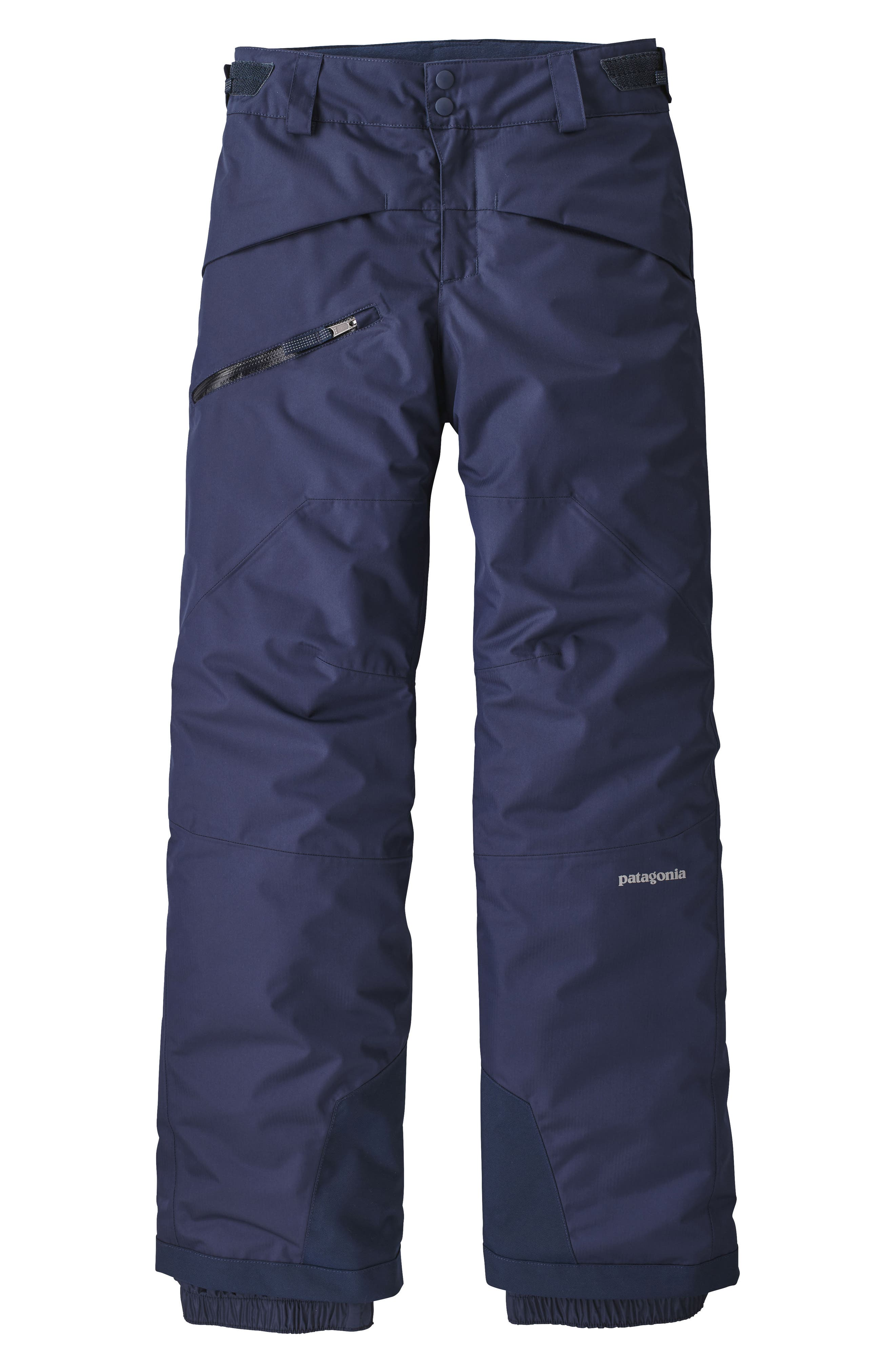 Boys Patagonia Snowshot Insulated Snow Pants Size L (12)  Blue