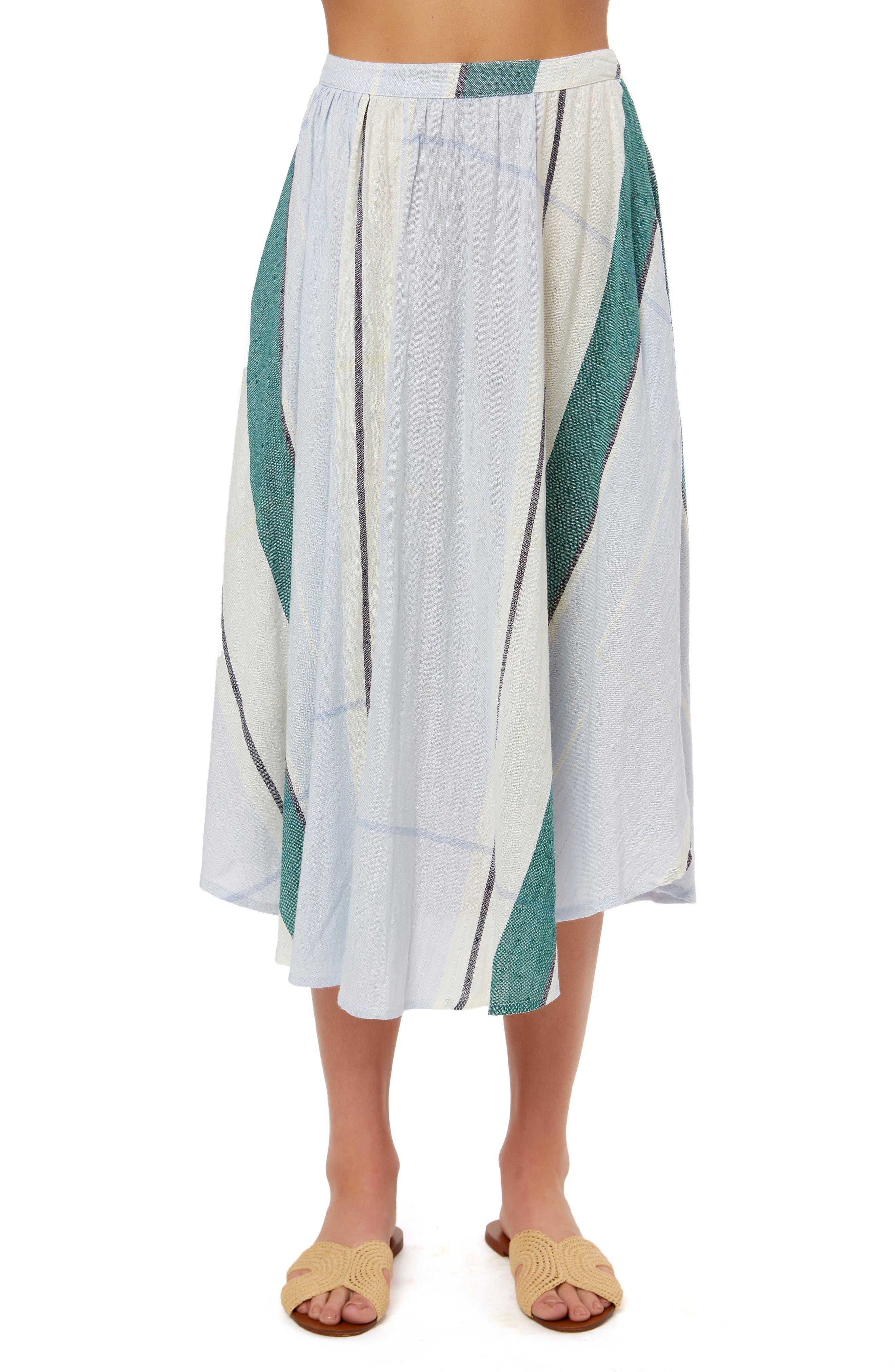 Stella Mixed Stripe Midi Skirt by O'neill