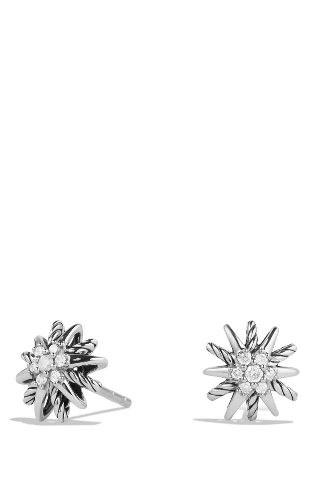 DAVID YURMAN, 'Starburst' Earrings with Diamonds, Main thumbnail 1, color, DIAMOND