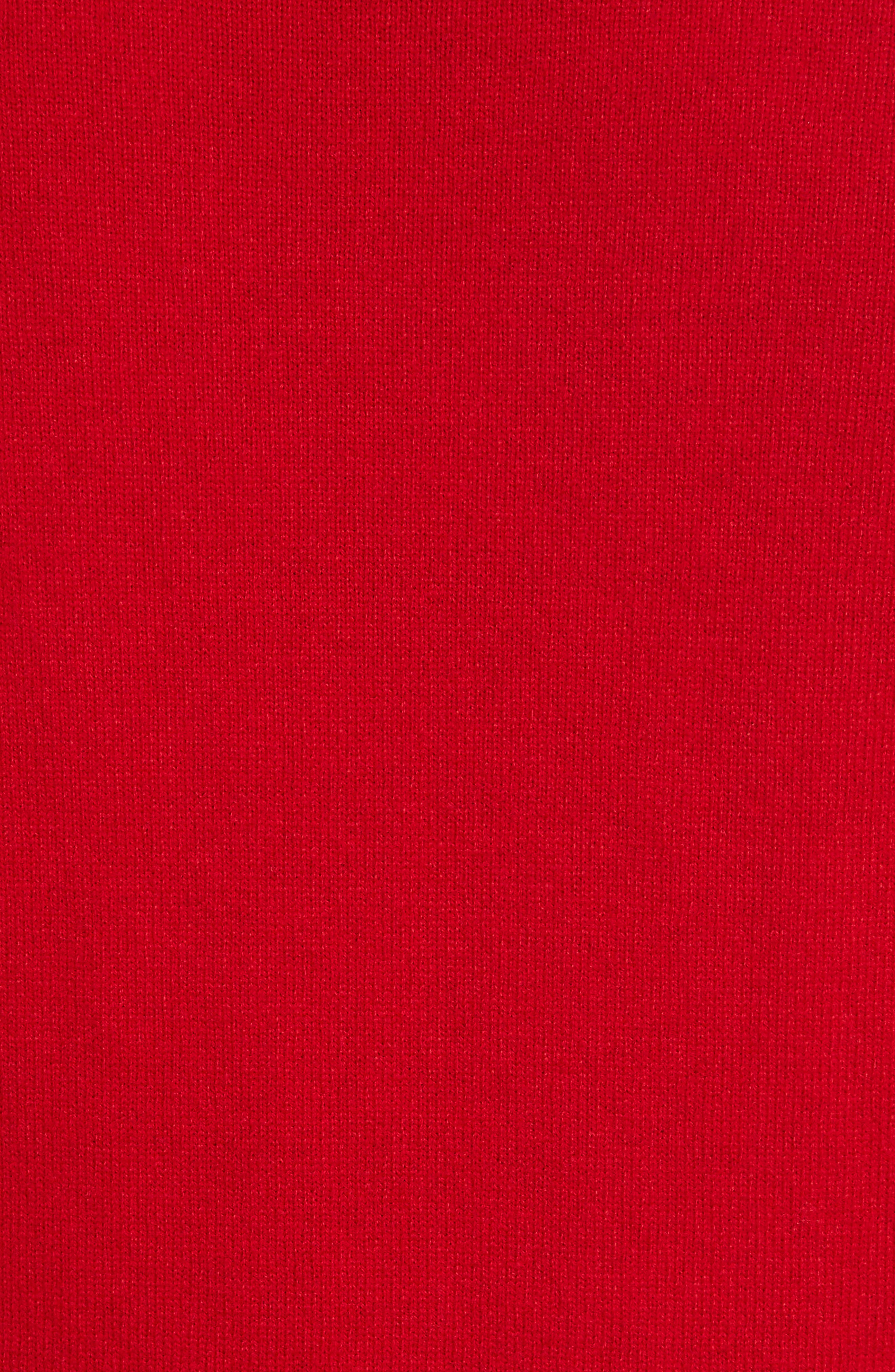 COMME DES GARÇONS PLAY, Wool Pullover, Alternate thumbnail 5, color, RED