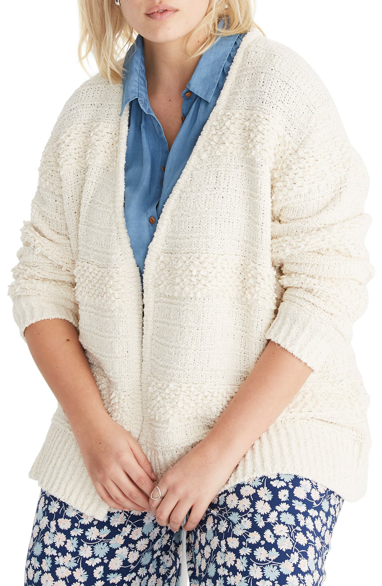 MADEWELL, Bronson Cardigan, Alternate thumbnail 2, color, 900