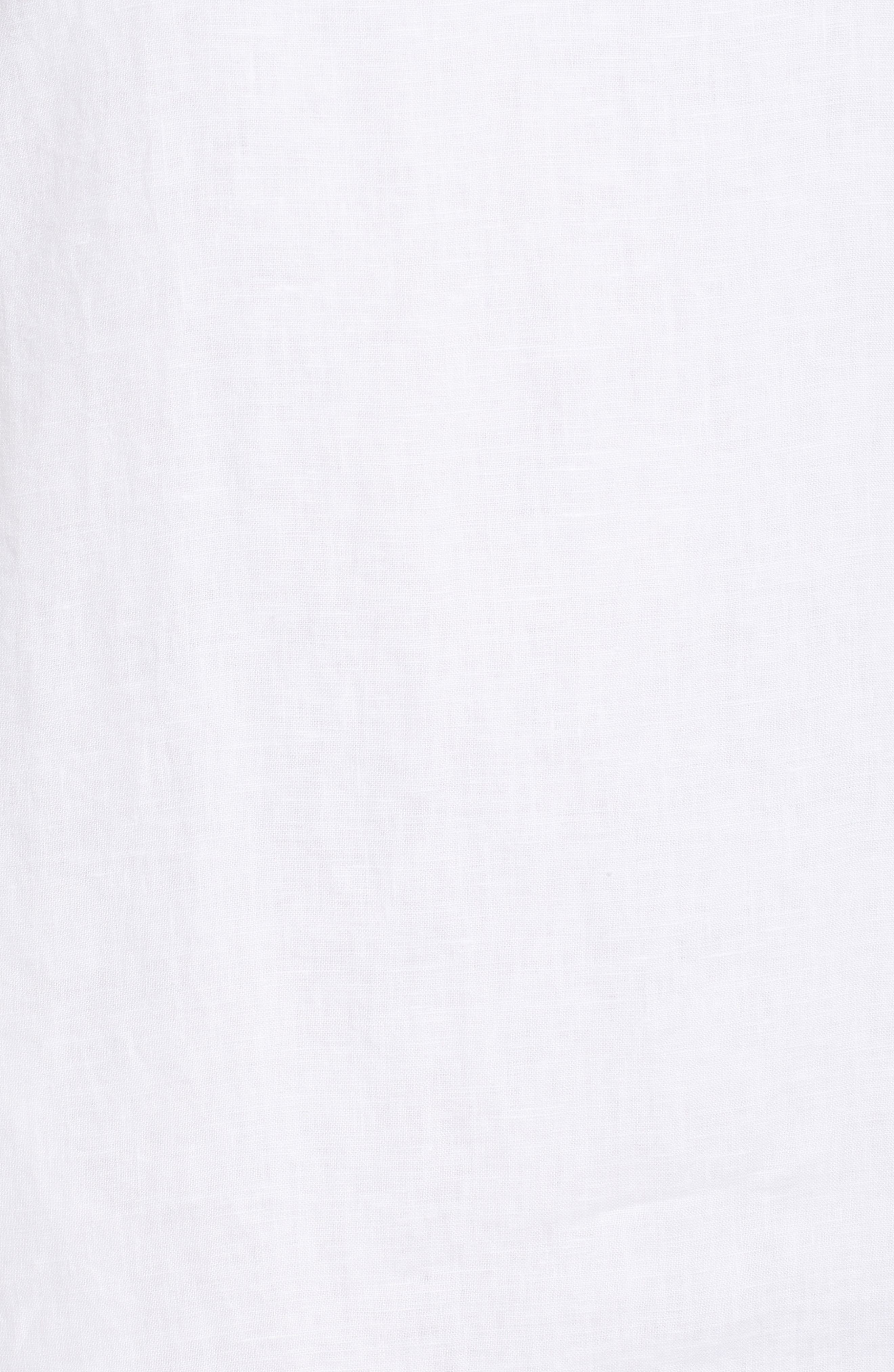 TOMMY BAHAMA, Sea Glass Linen Shift Dress, Alternate thumbnail 6, color, WHITE