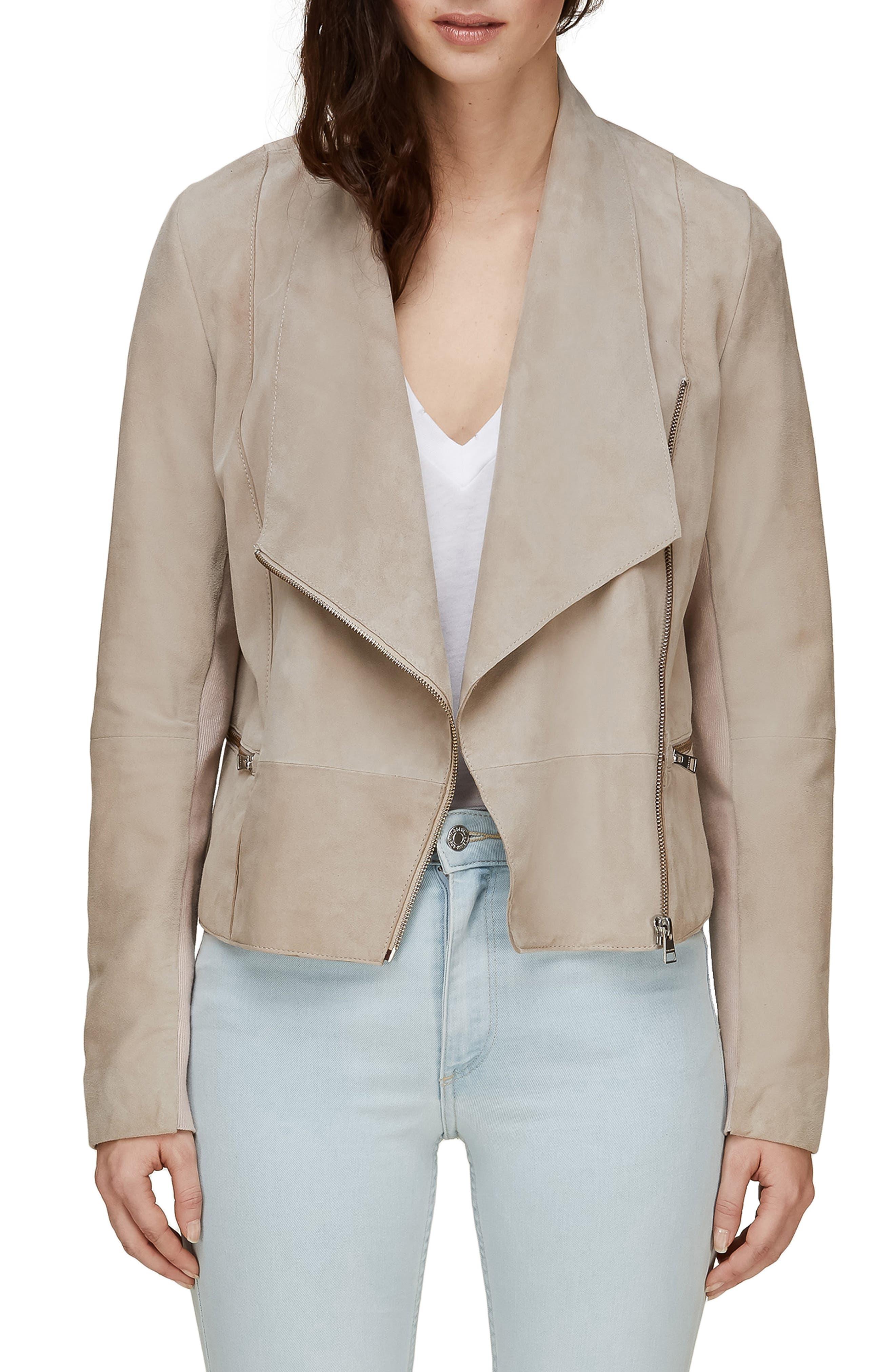 SOIA & KYO Crop Suede Jacket, Main, color, 250