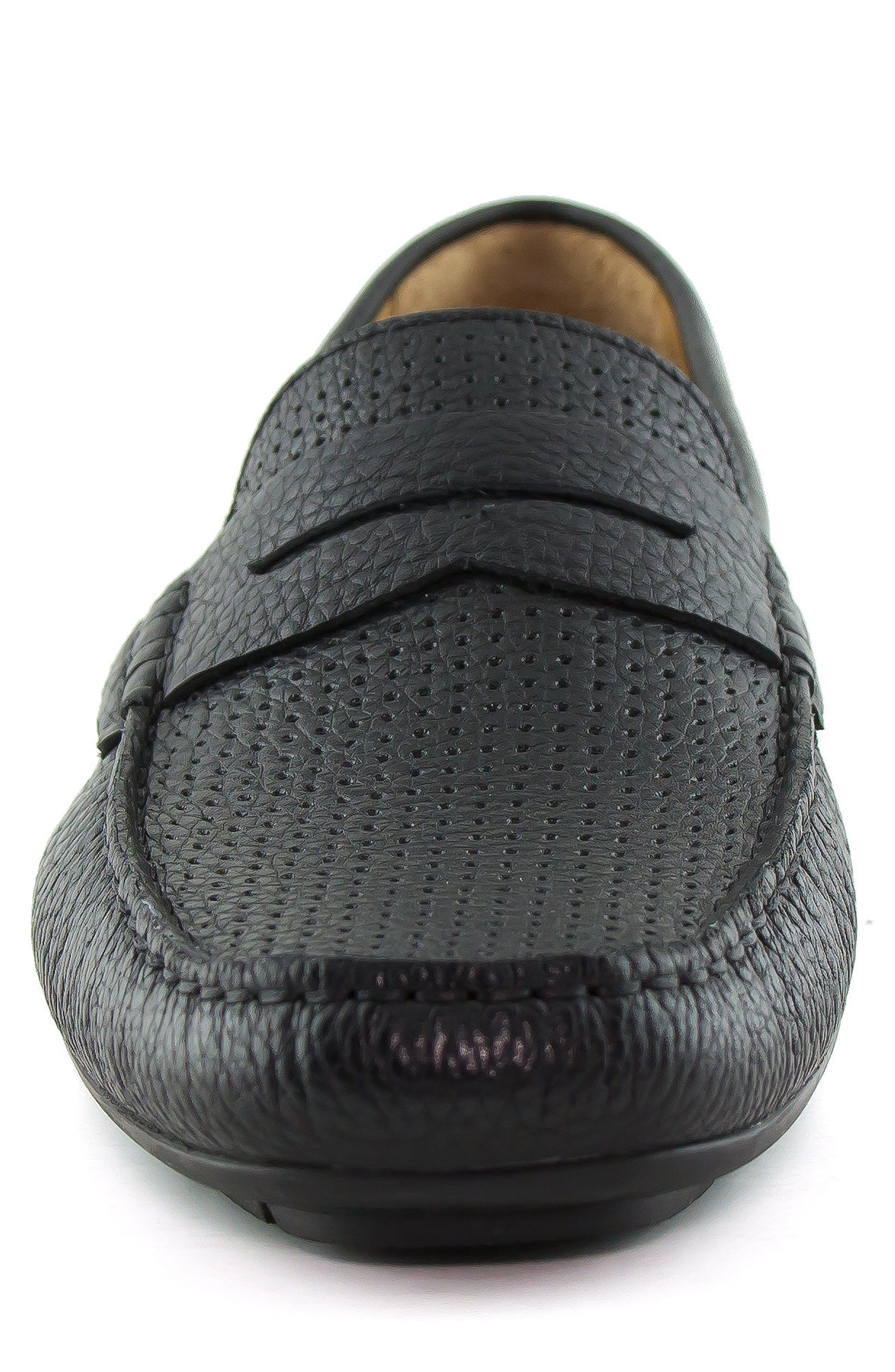 MARC JOSEPH NEW YORK, Union Street Driving Shoe, Alternate thumbnail 4, color, BLACK