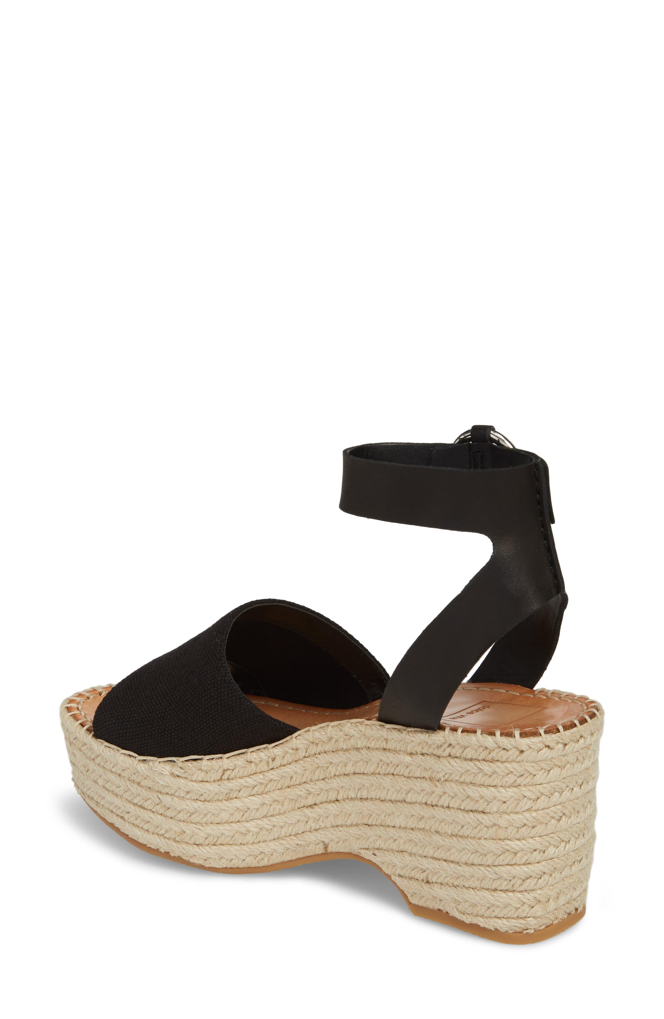DOLCE VITA, Lesly Espadrille Platform Sandal, Alternate thumbnail 2, color, 001