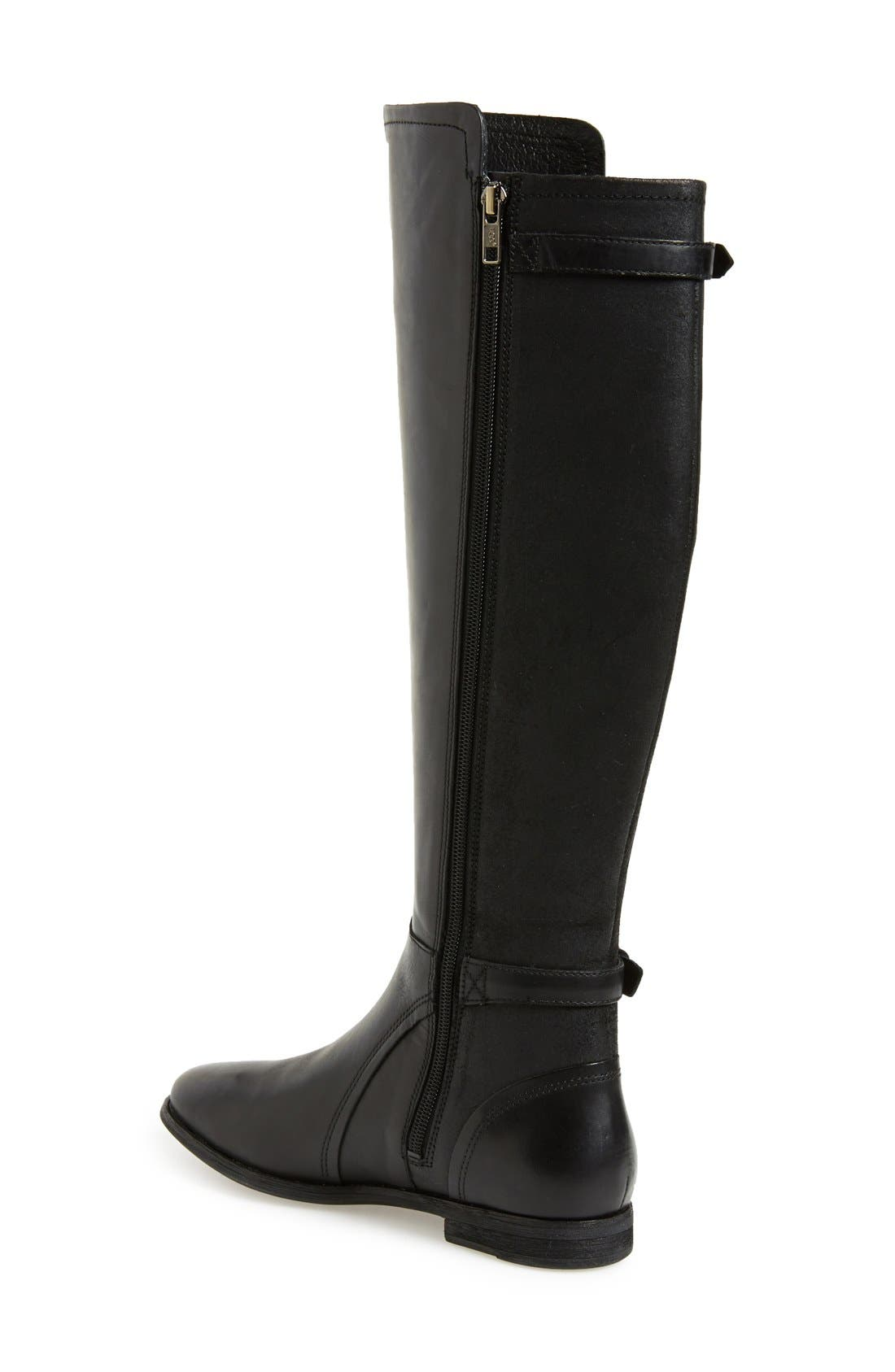 UGG<SUP>®</SUP>, Australia 'Danae' Riding Boot, Alternate thumbnail 4, color, 001