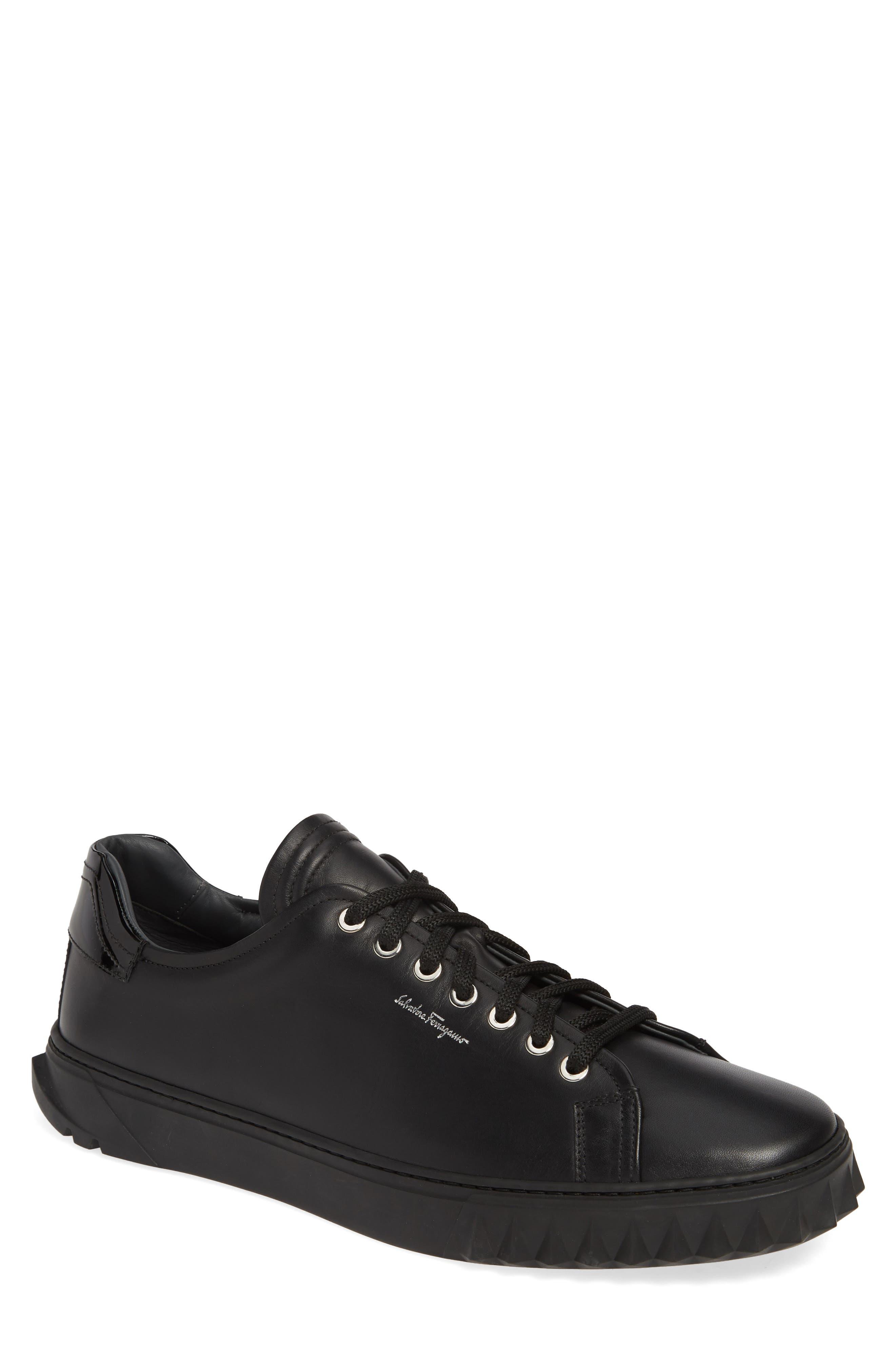 SALVATORE FERRAGAMO Cube Sneaker, Main, color, NERO/BLACK