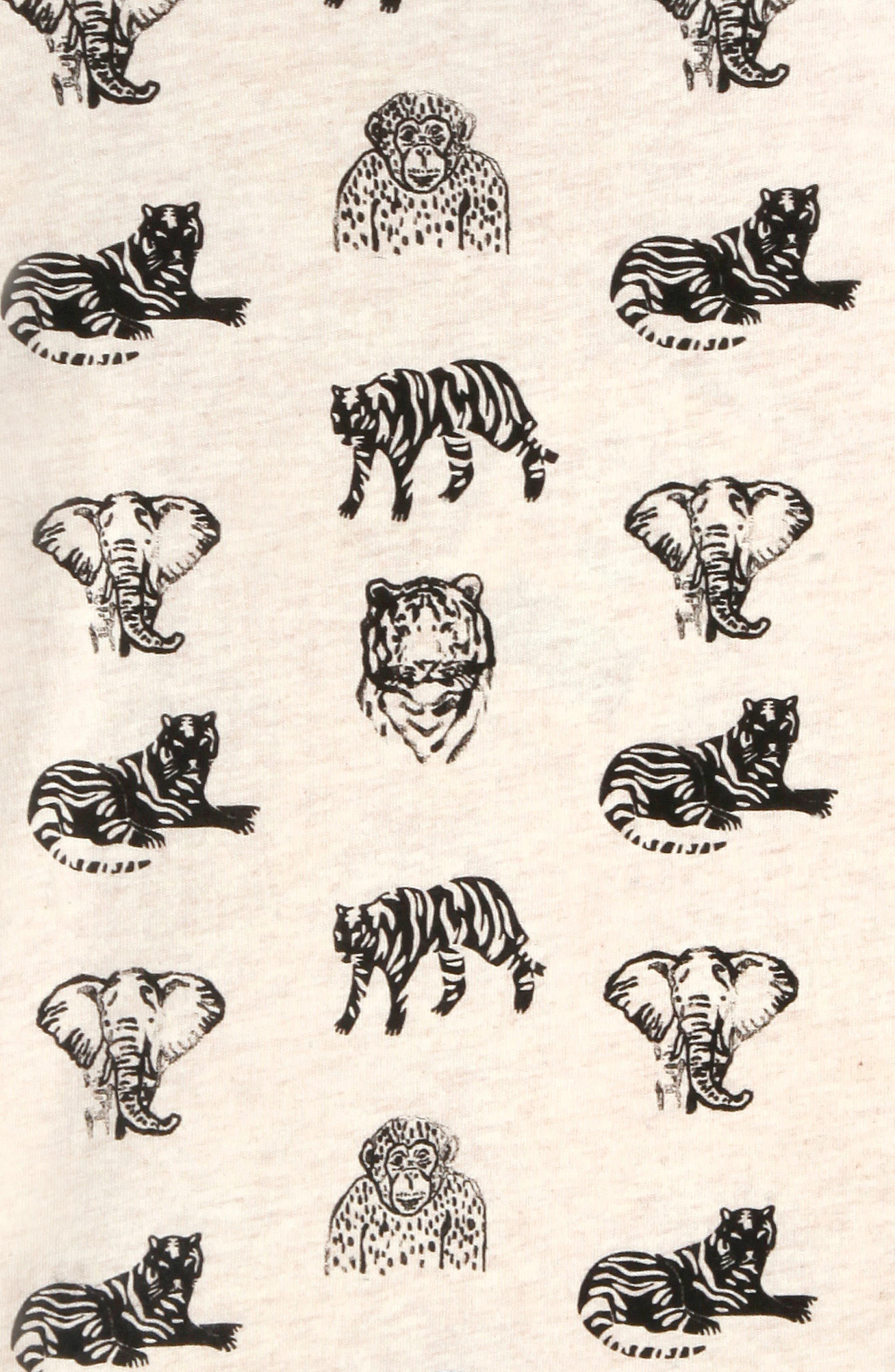 ART & EDEN, x Animal Planet Adam Organic Cotton T-Shirt, Alternate thumbnail 3, color, JUNGLE PATTERN