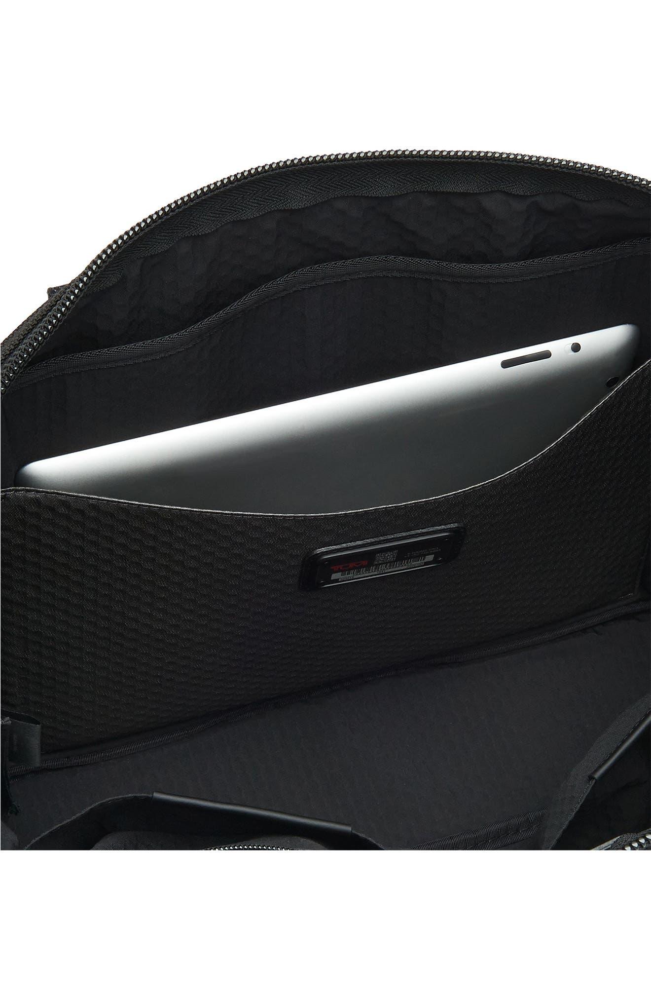 TUMI, Alpha Bravo - Charleston Briefcase, Alternate thumbnail 5, color, BLACK
