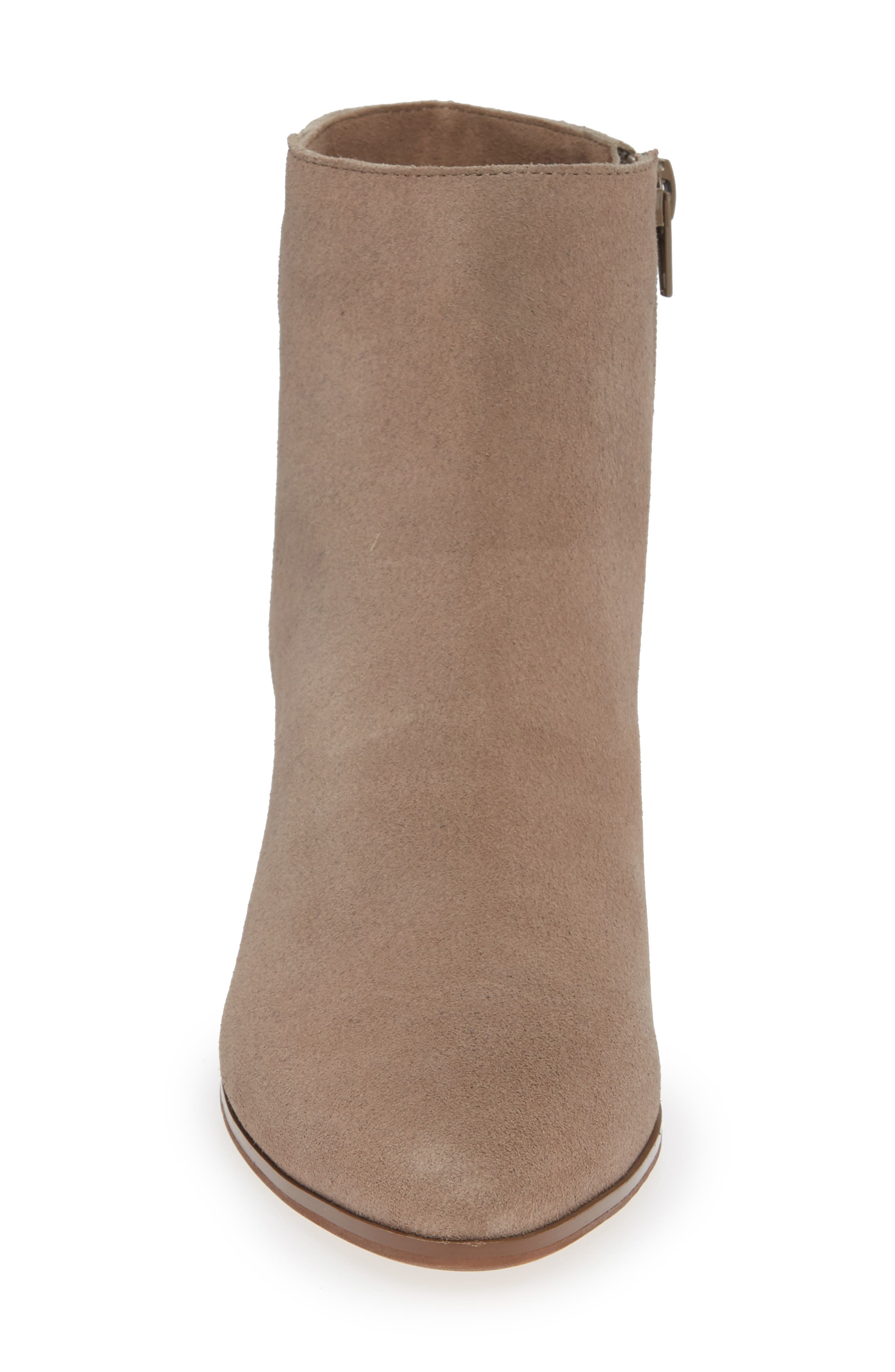 SOLE SOCIETY, Rhilynn Bootie, Alternate thumbnail 4, color, FALL TAUPE SUEDE