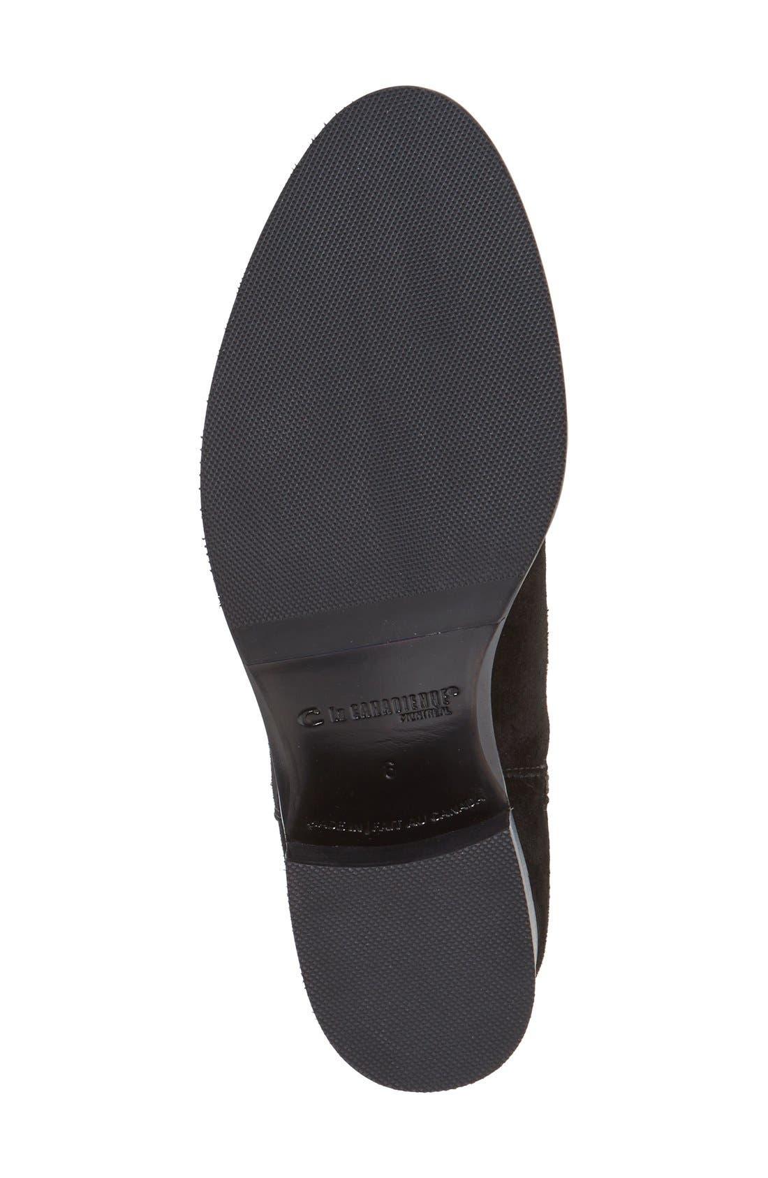 LA CANADIENNE, 'Polly' Waterproof Knee High Boot, Alternate thumbnail 4, color, BLACK SUEDE