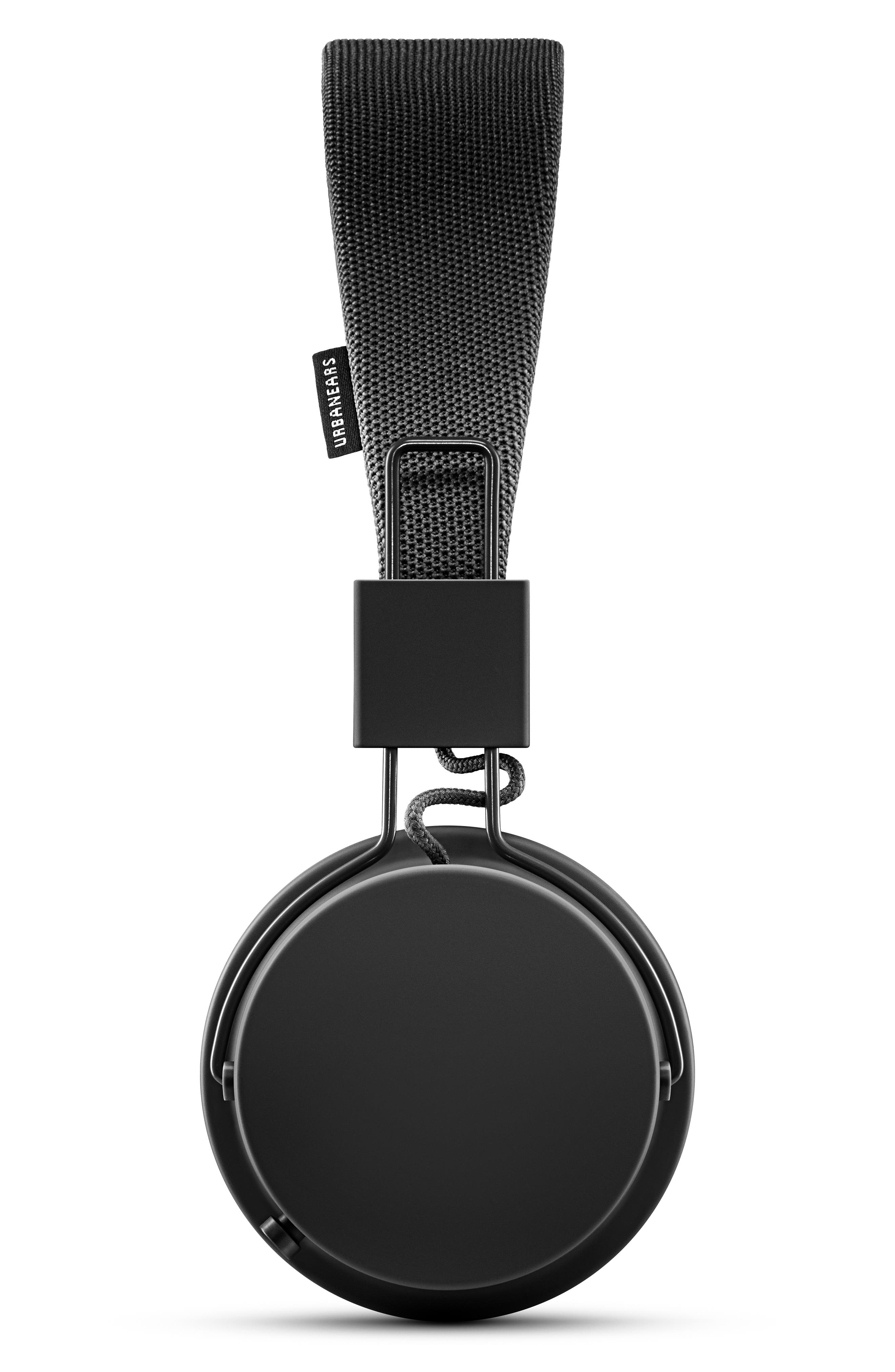 URBANEARS, Plattan II Wireless Bluetooth Headphones, Alternate thumbnail 2, color, BLACK