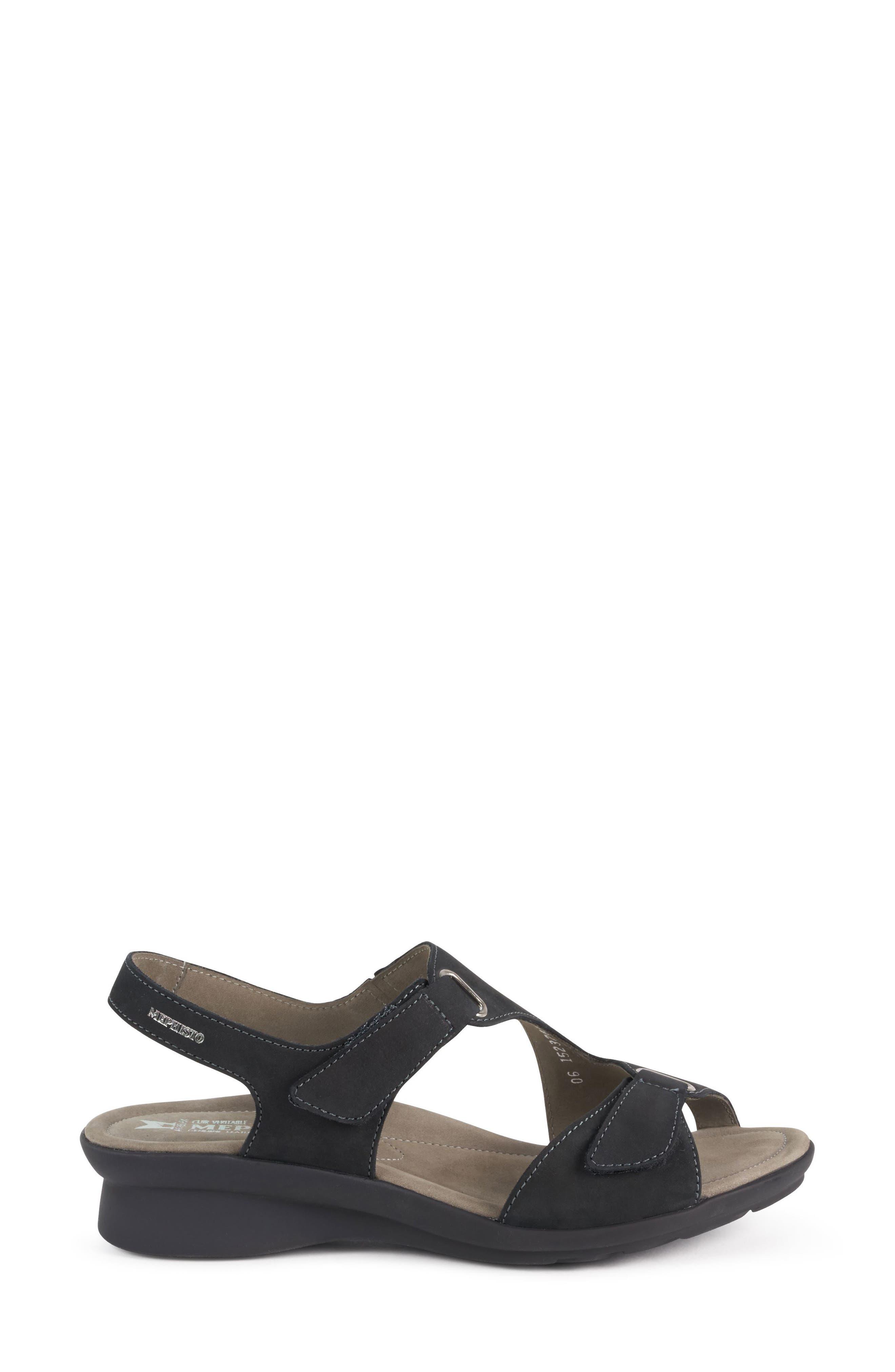 MEPHISTO, 'Paris' Slingback Sandal, Alternate thumbnail 4, color, BLACK