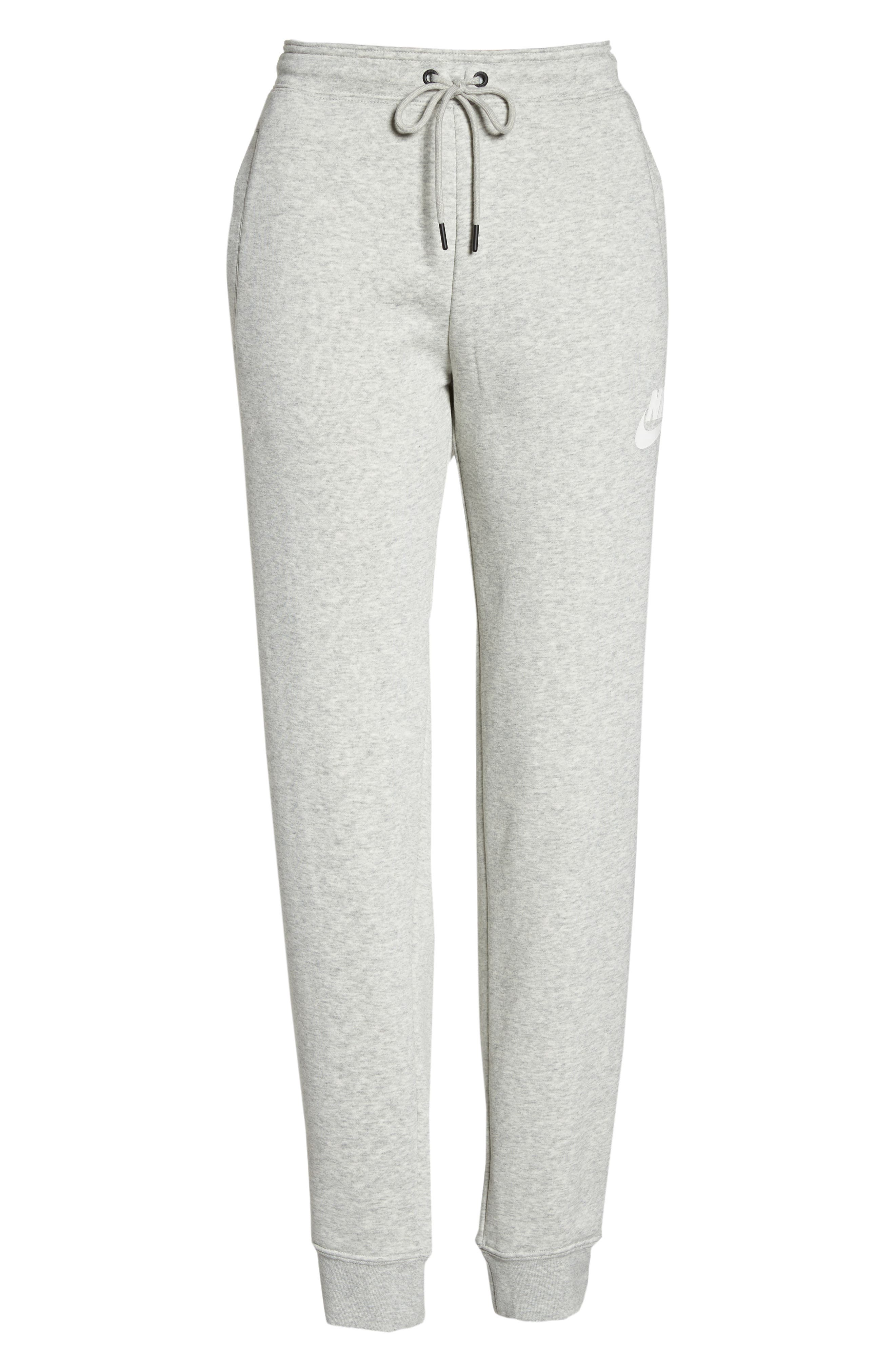 NIKE, Sportswear Rally Jogger Pants, Alternate thumbnail 7, color, GREY HEATHER/ PALE GREY/ WHITE