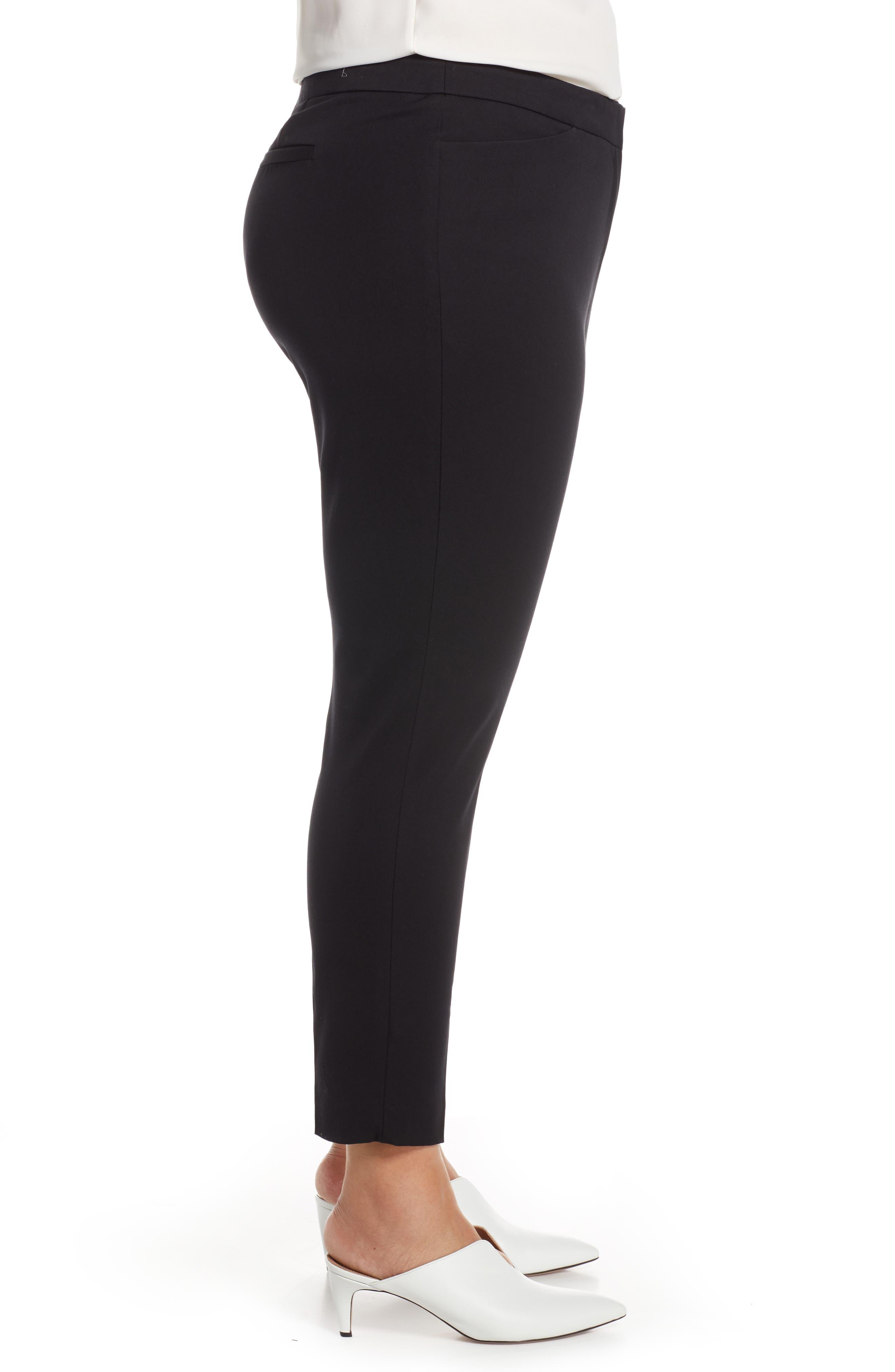 HALOGEN<SUP>®</SUP>, Ankle Pants, Alternate thumbnail 4, color, BLACK