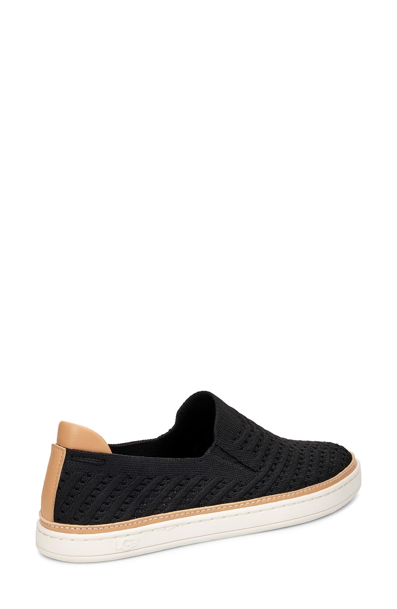 UGG<SUP>®</SUP>, Sammy Slip-On Sneaker, Alternate thumbnail 2, color, BLACK FABRIC