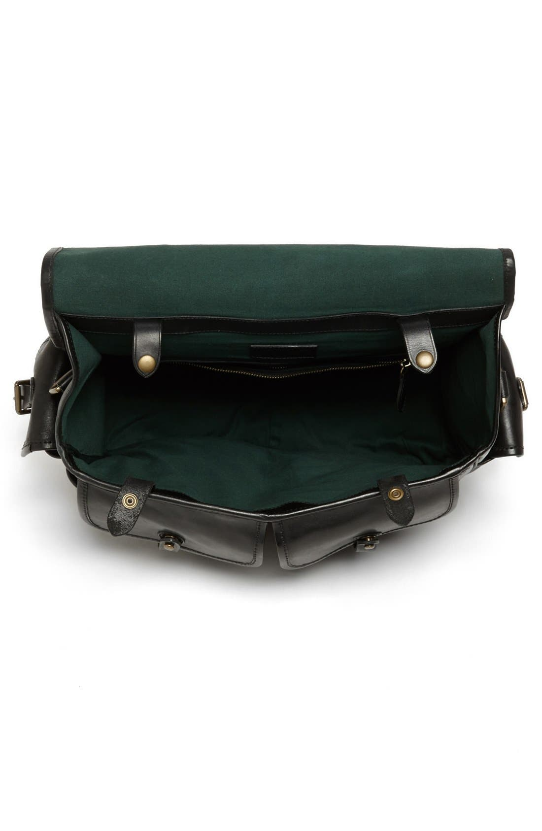 POLO RALPH LAUREN, Leather Briefcase, Alternate thumbnail 2, color, 001