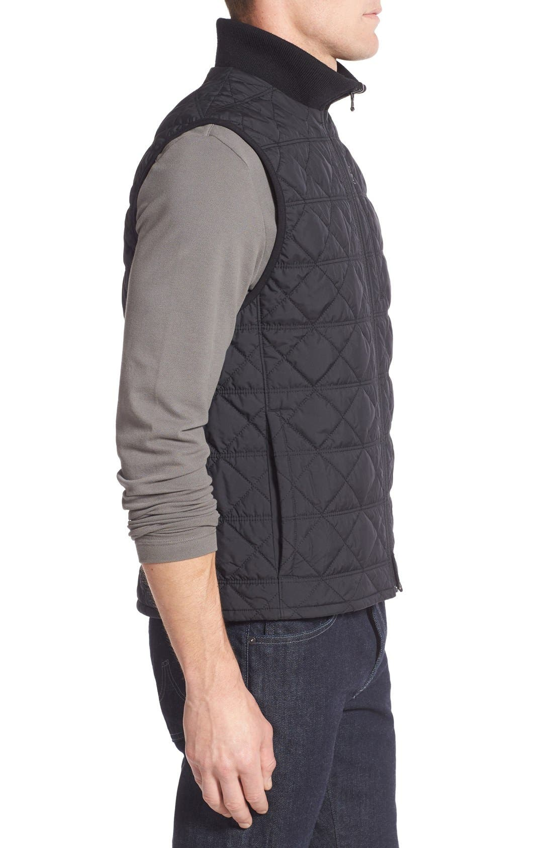 VICTORINOX SWISS ARMY<SUP>®</SUP>, Quilted Matterhorn II Water Repellent Vest, Alternate thumbnail 3, color, 001