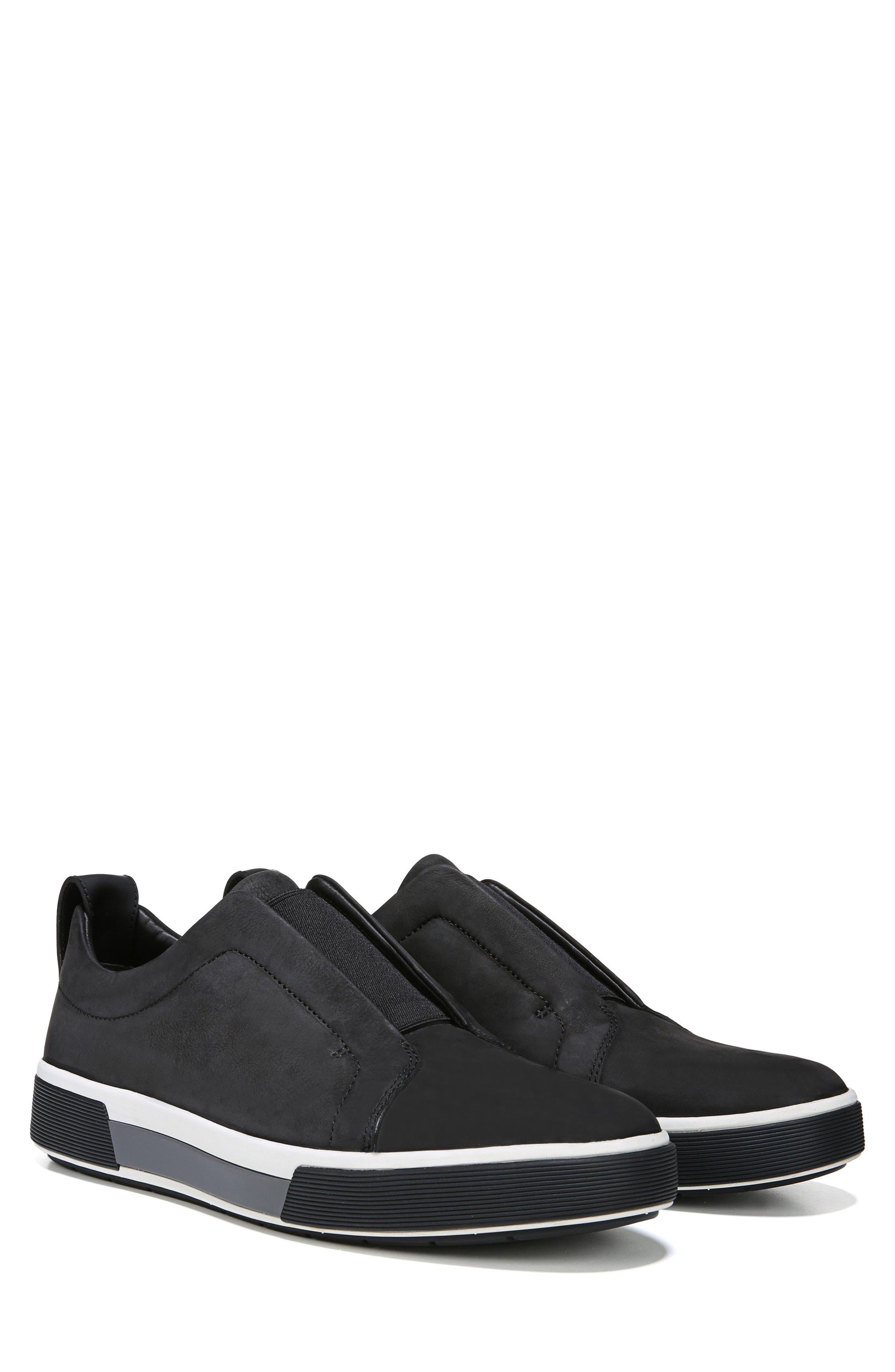 VINCE, Ranger Laceless Sneaker, Alternate thumbnail 8, color, BLACK
