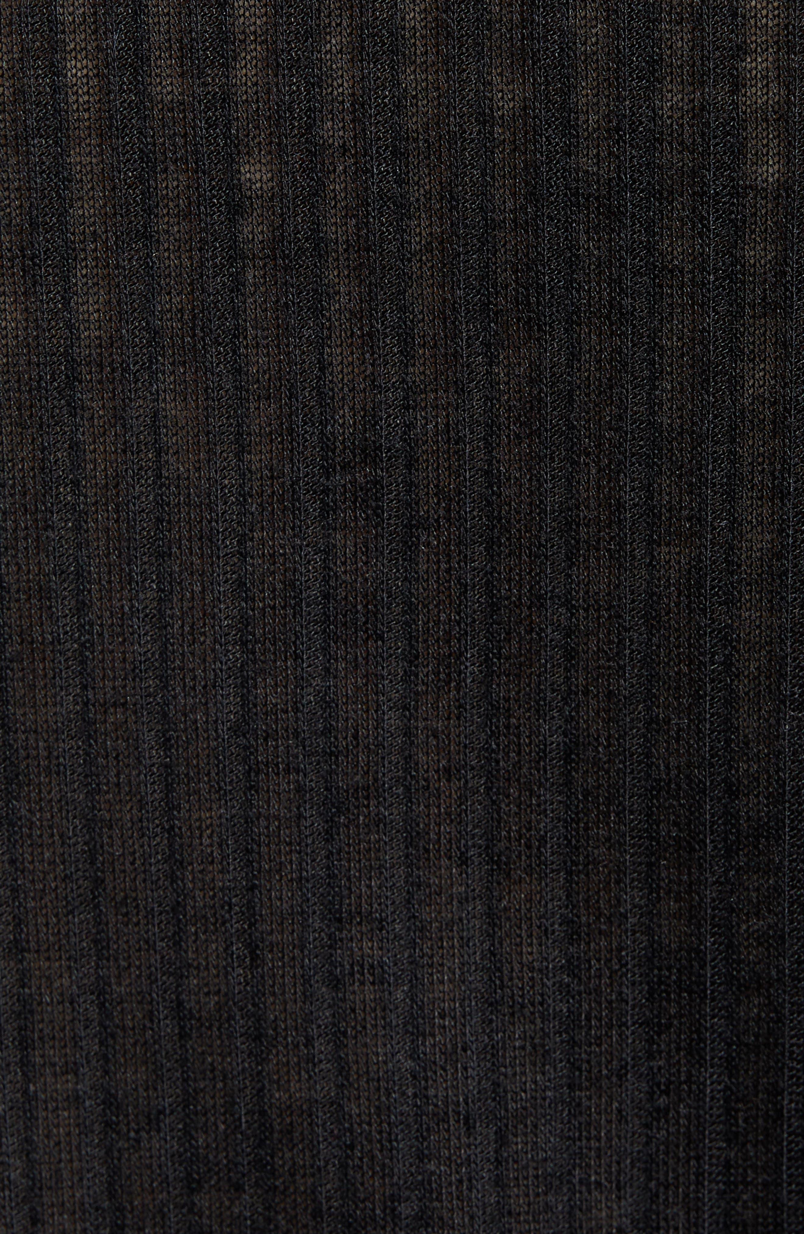TREASURE & BOND, V-Neck Henley Top, Alternate thumbnail 5, color, 001