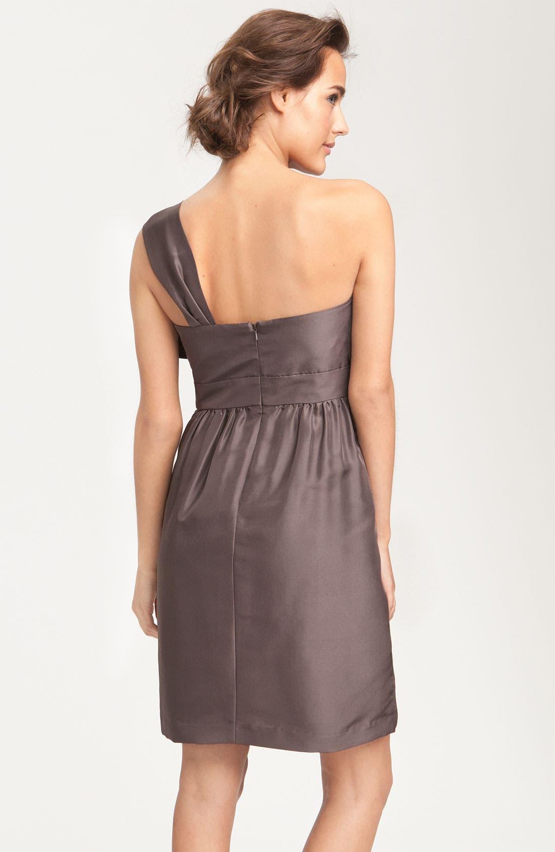 JENNY YOO, Convertible Shantung Dress, Alternate thumbnail 4, color, 020