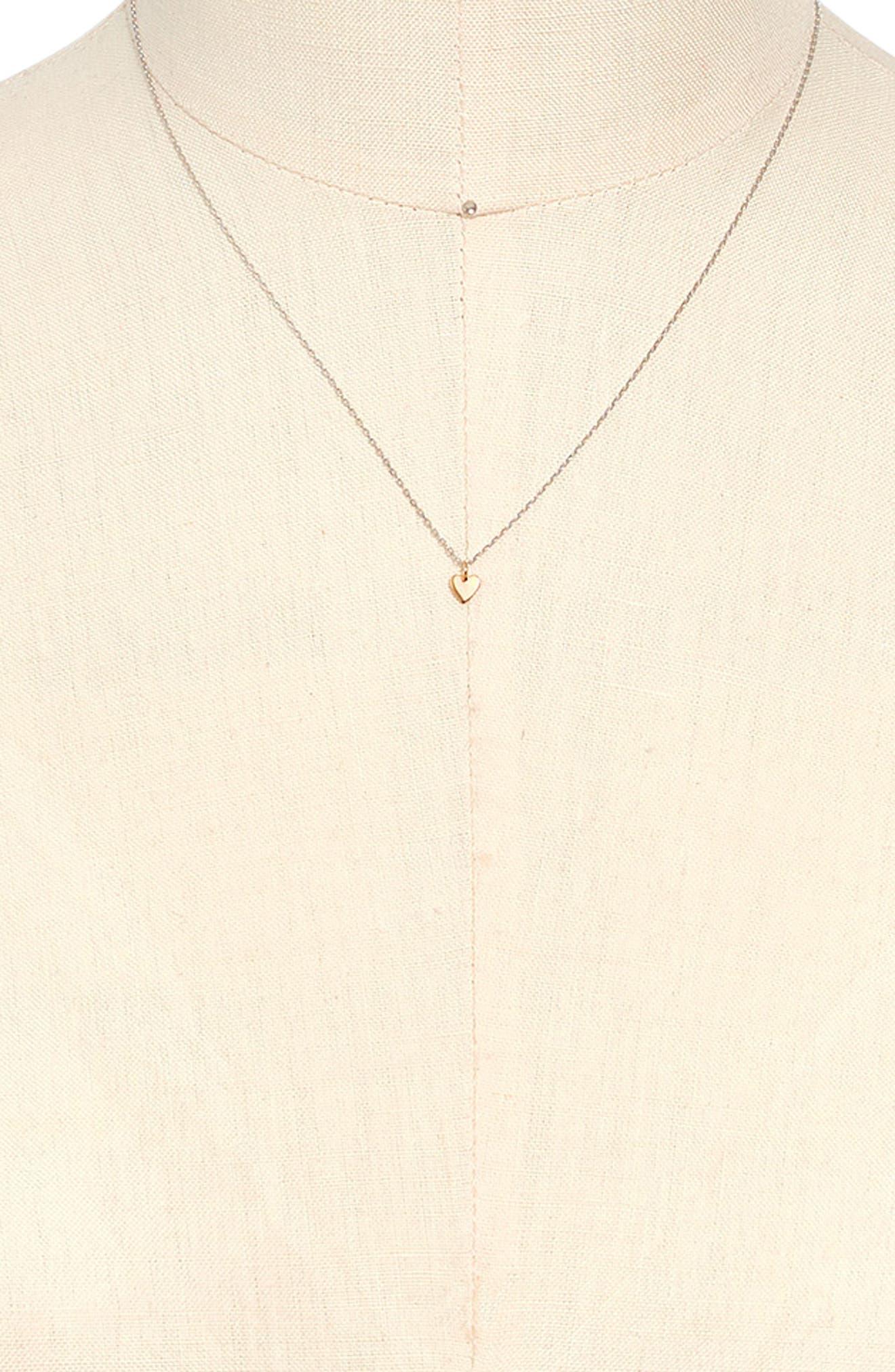 MADEWELL, Vermeil Pendant Necklace, Alternate thumbnail 2, color, 710