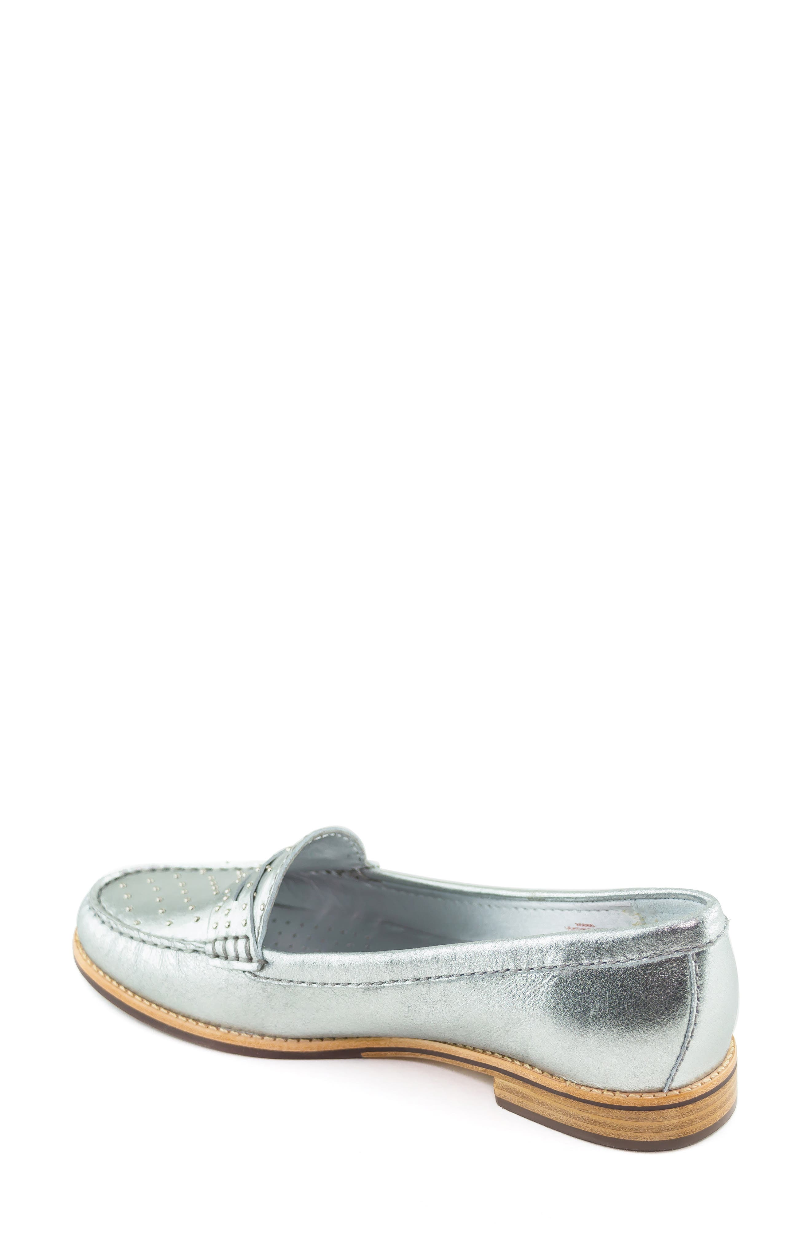 MARC JOSEPH NEW YORK, East Village III Studded Loafer, Alternate thumbnail 2, color, SILVER LEATHER