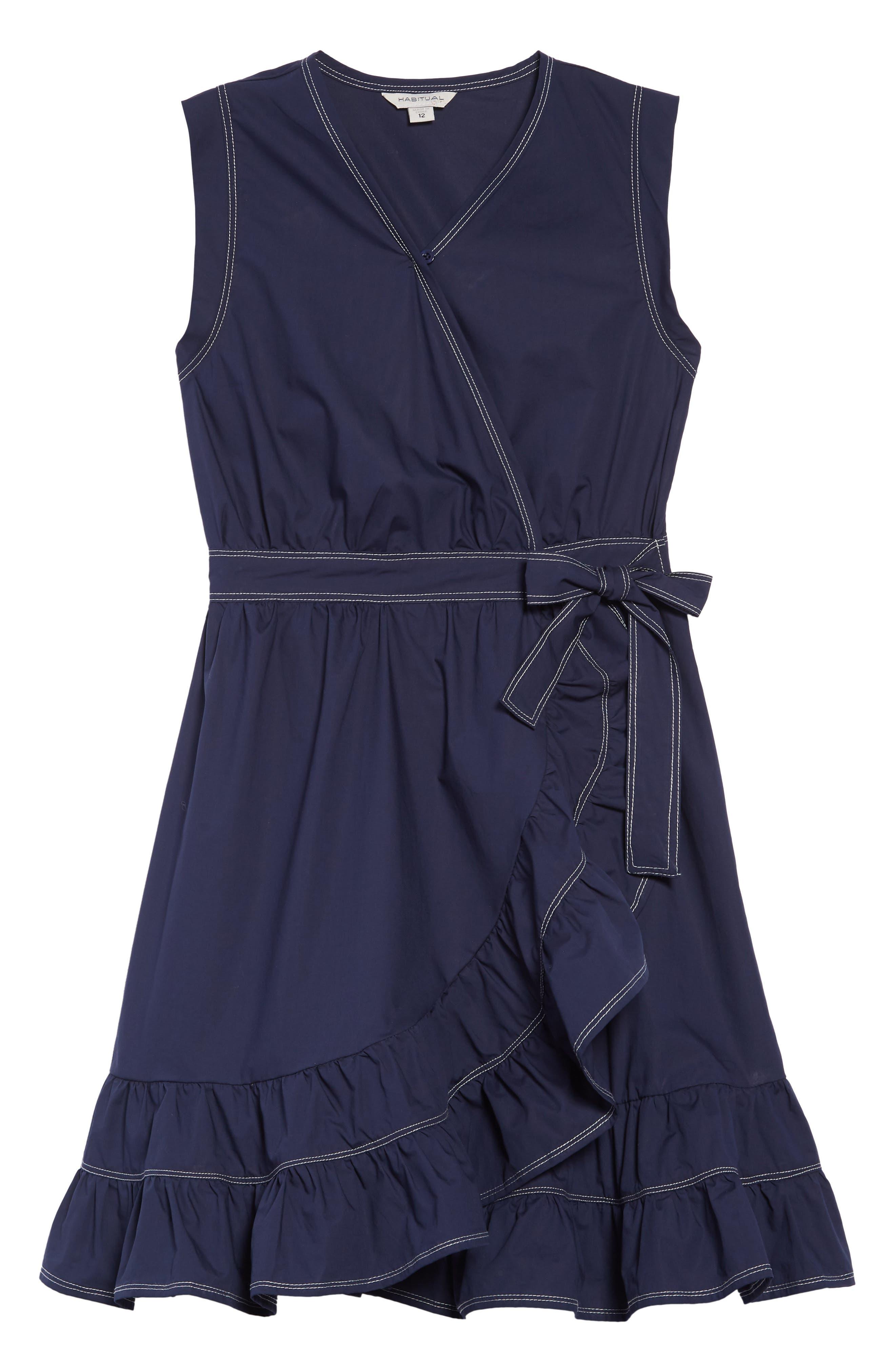 HABITUAL, Vanessa Wrap Dress, Main thumbnail 1, color, 410