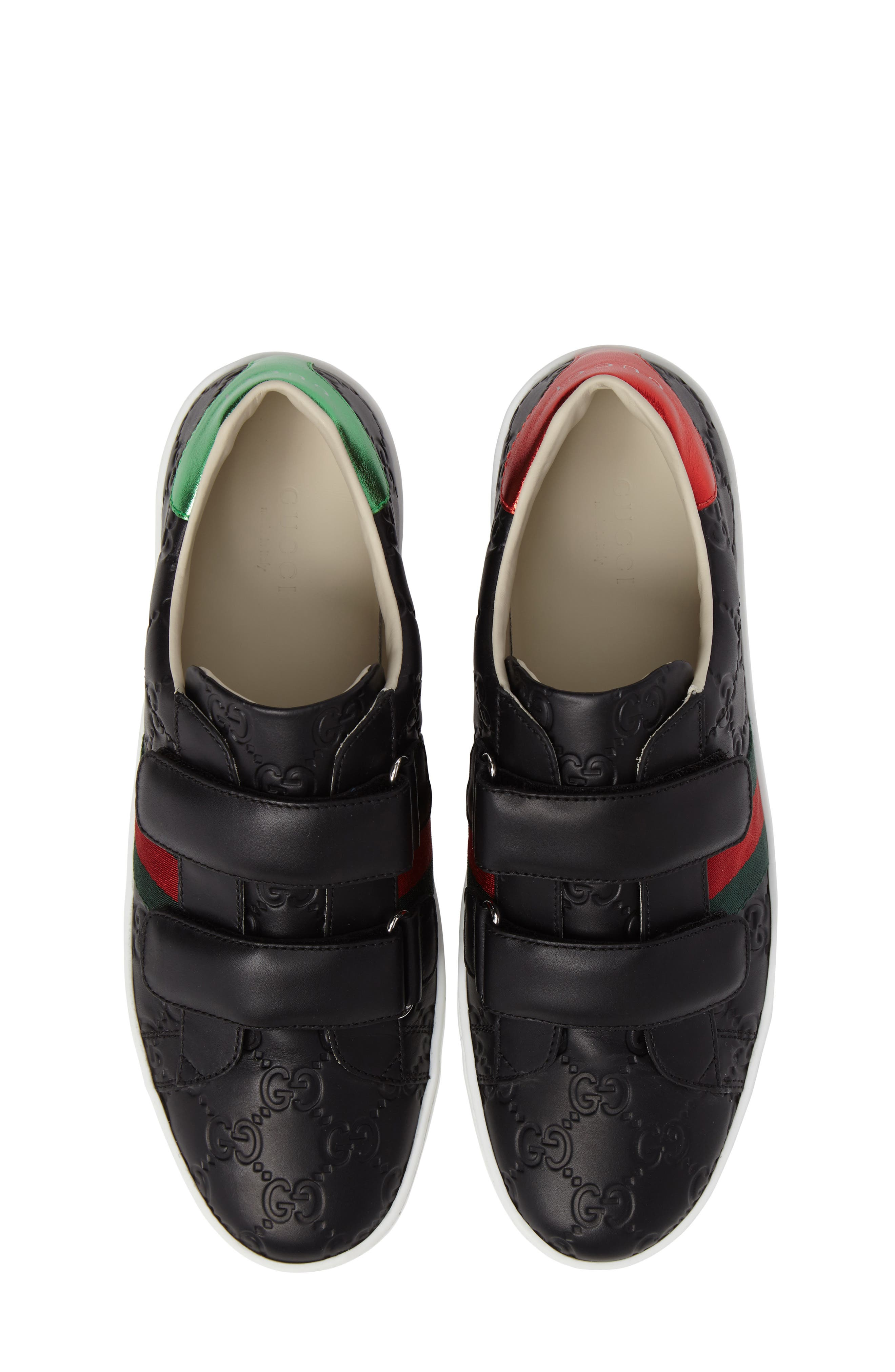 GUCCI, New Ace Sneaker, Main thumbnail 1, color, 001
