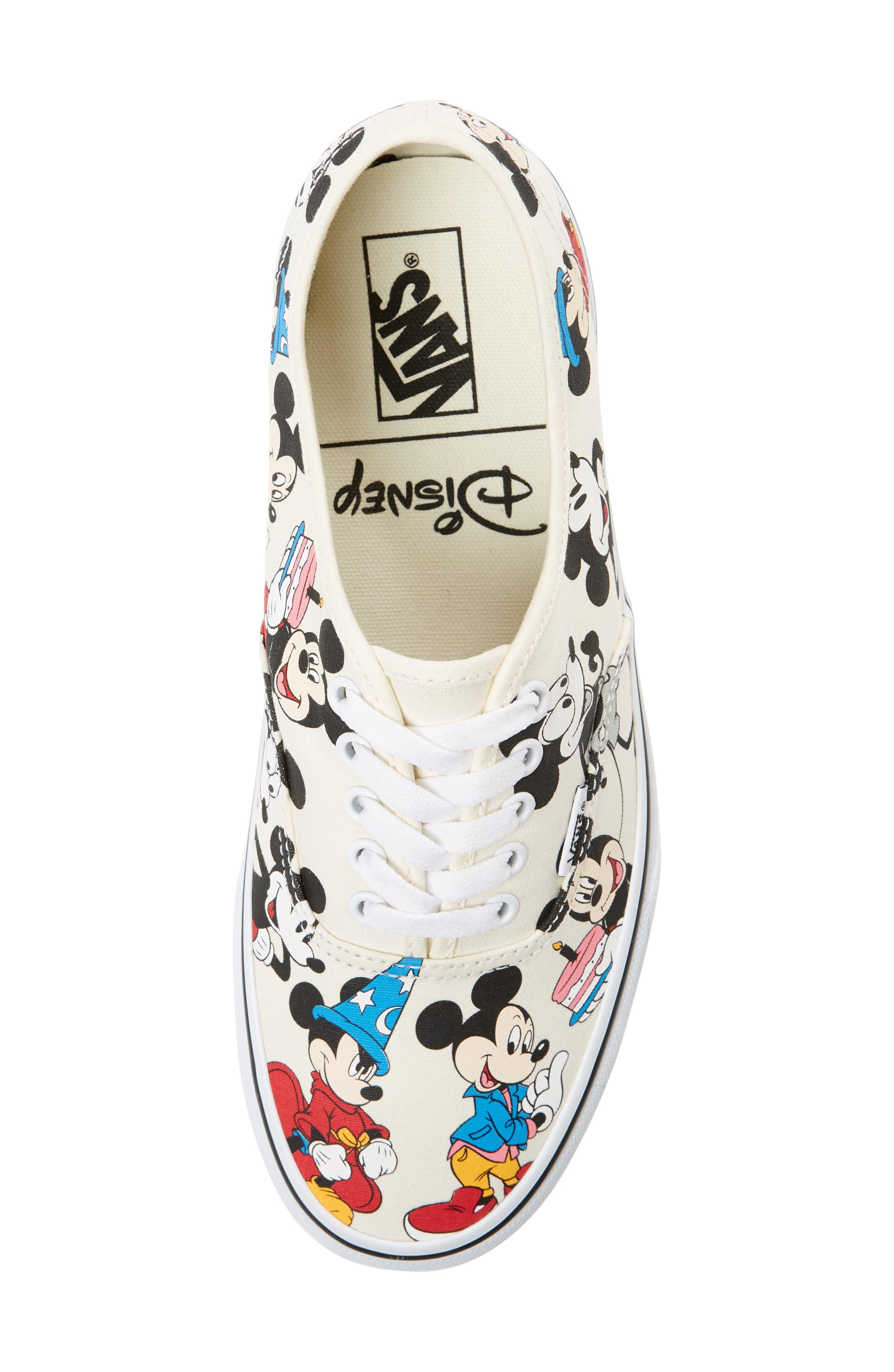 VANS, x Disney Authentic Low Top Sneaker, Alternate thumbnail 5, color, 250