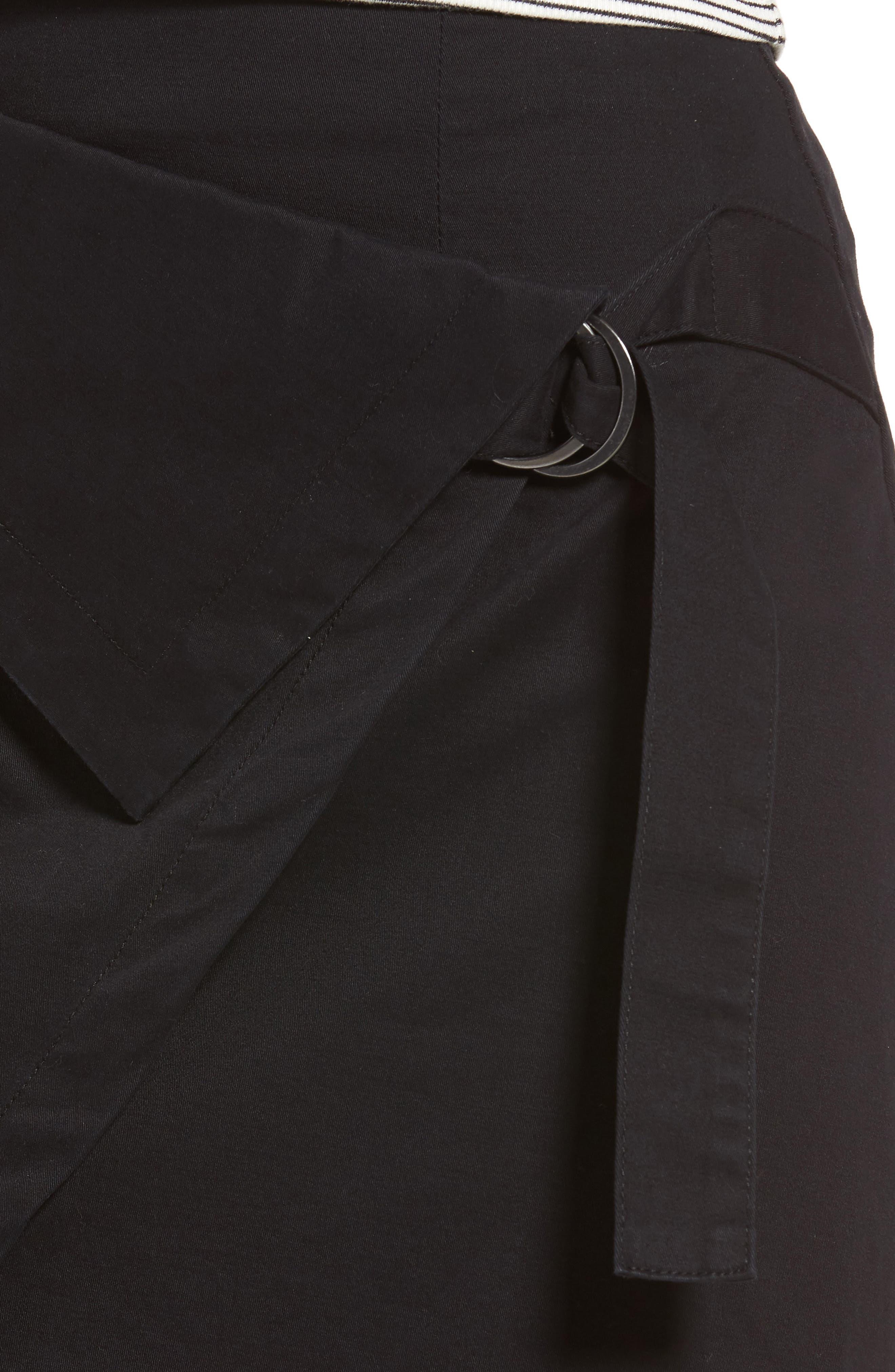 THE FIFTH LABEL, City Sounds Wrap Skirt, Alternate thumbnail 4, color, 001