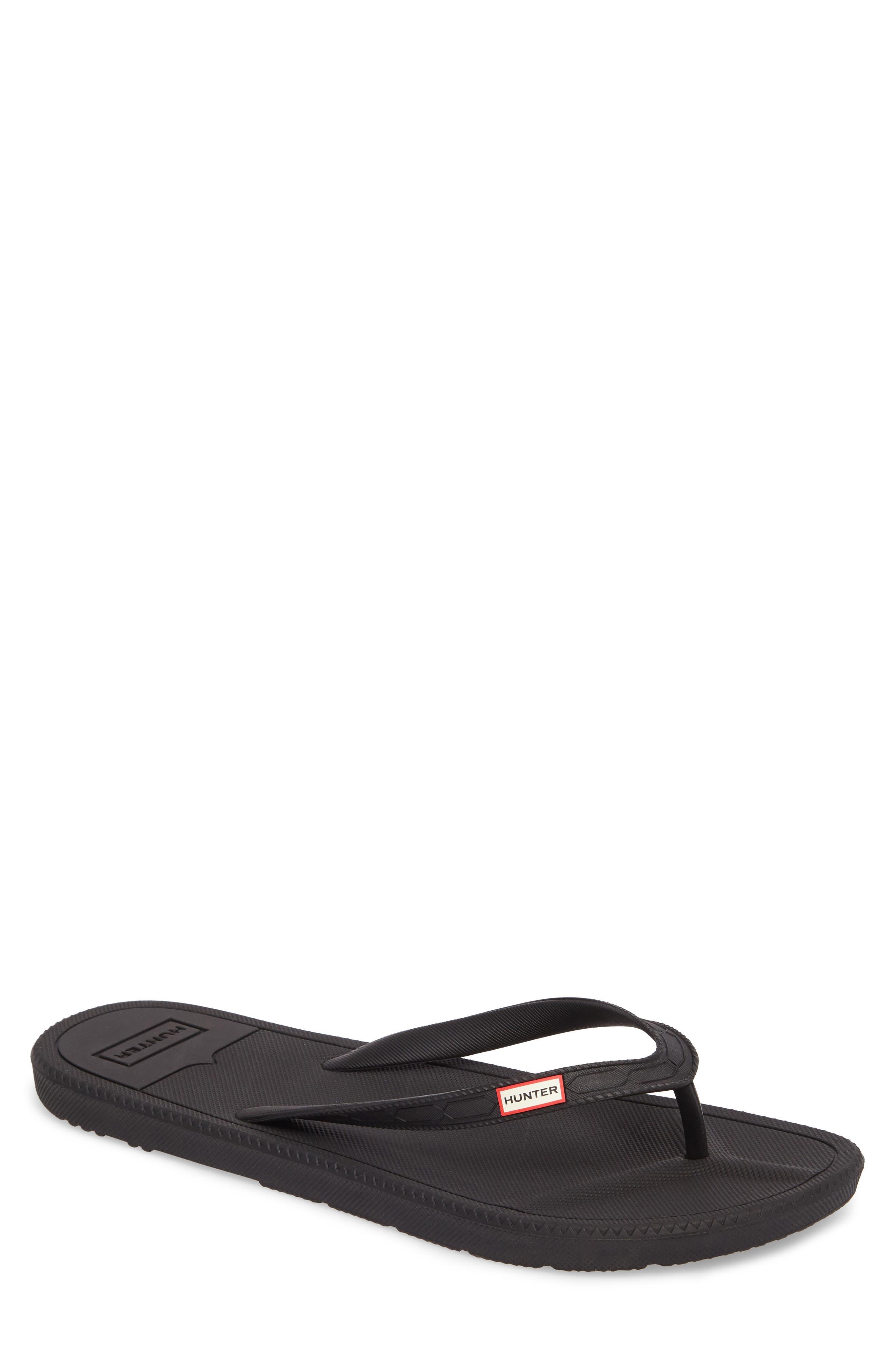 HUNTER Original Flip-Flop, Main, color, BLACK