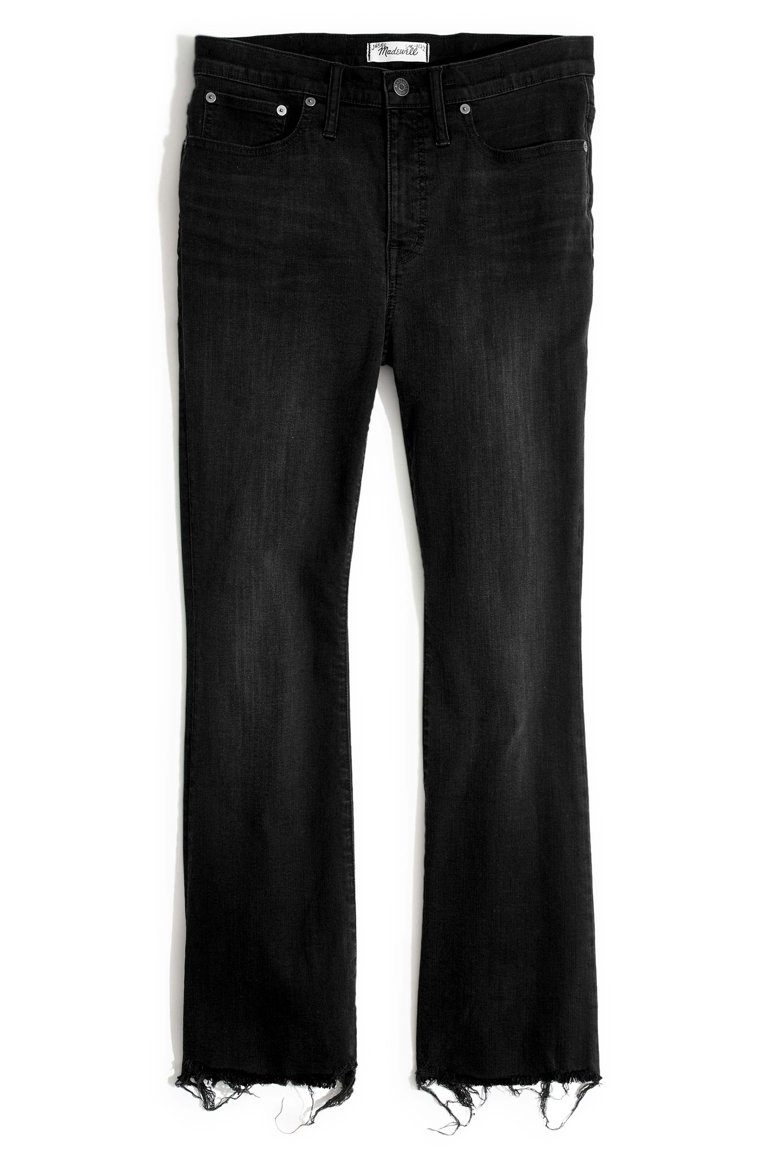 MADEWELL, Cali Chewed Hem Demi Bootcut Jeans, Alternate thumbnail 6, color, BERKELEY