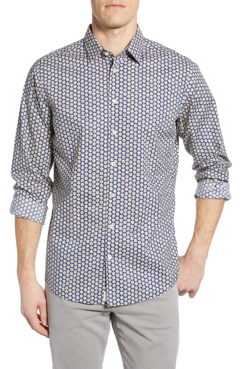 Rodd & Gunn T-shirts GREVILLE REGULAR FIT PRINT SPORT SHIRT