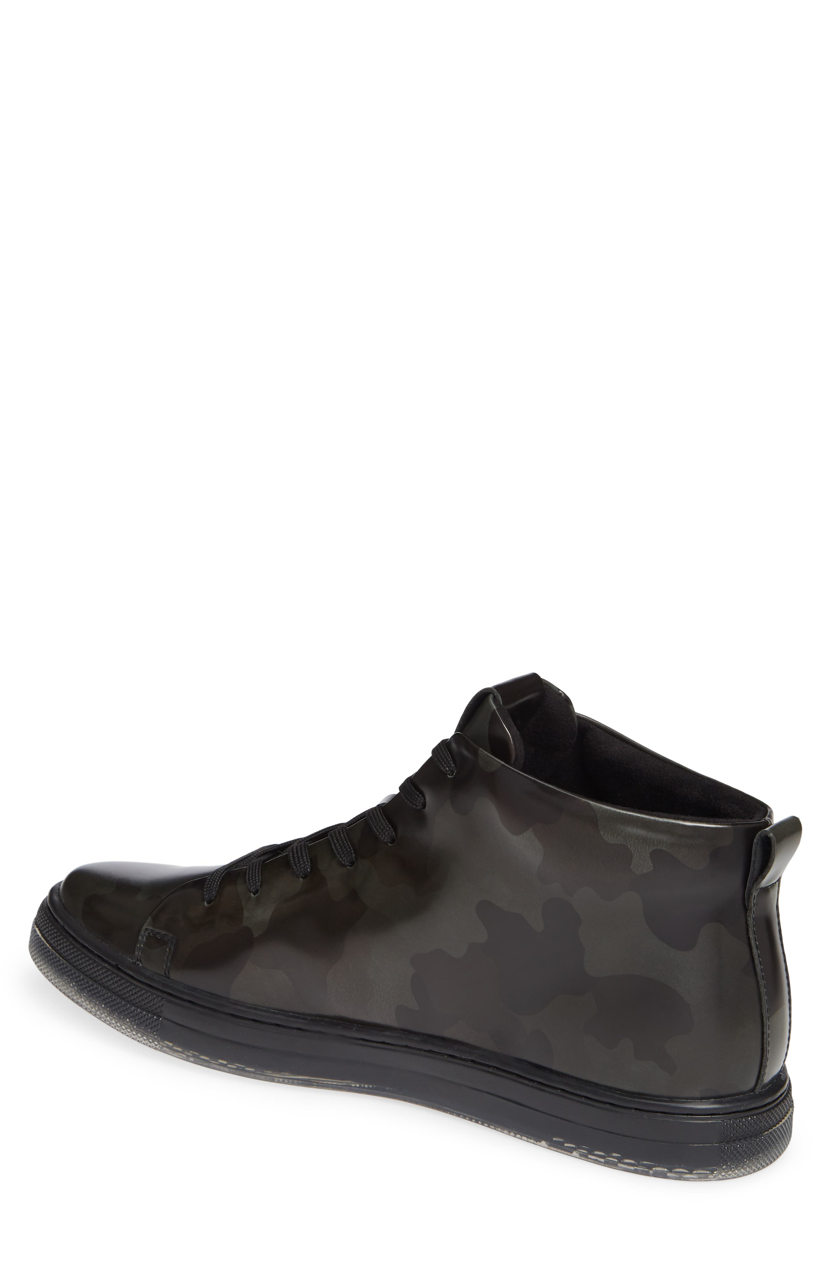 KENNETH COLE NEW YORK, Kenneth Cole Colvin Camo High Top Sneaker, Alternate thumbnail 2, color, OLIVE CAMO LEATHER