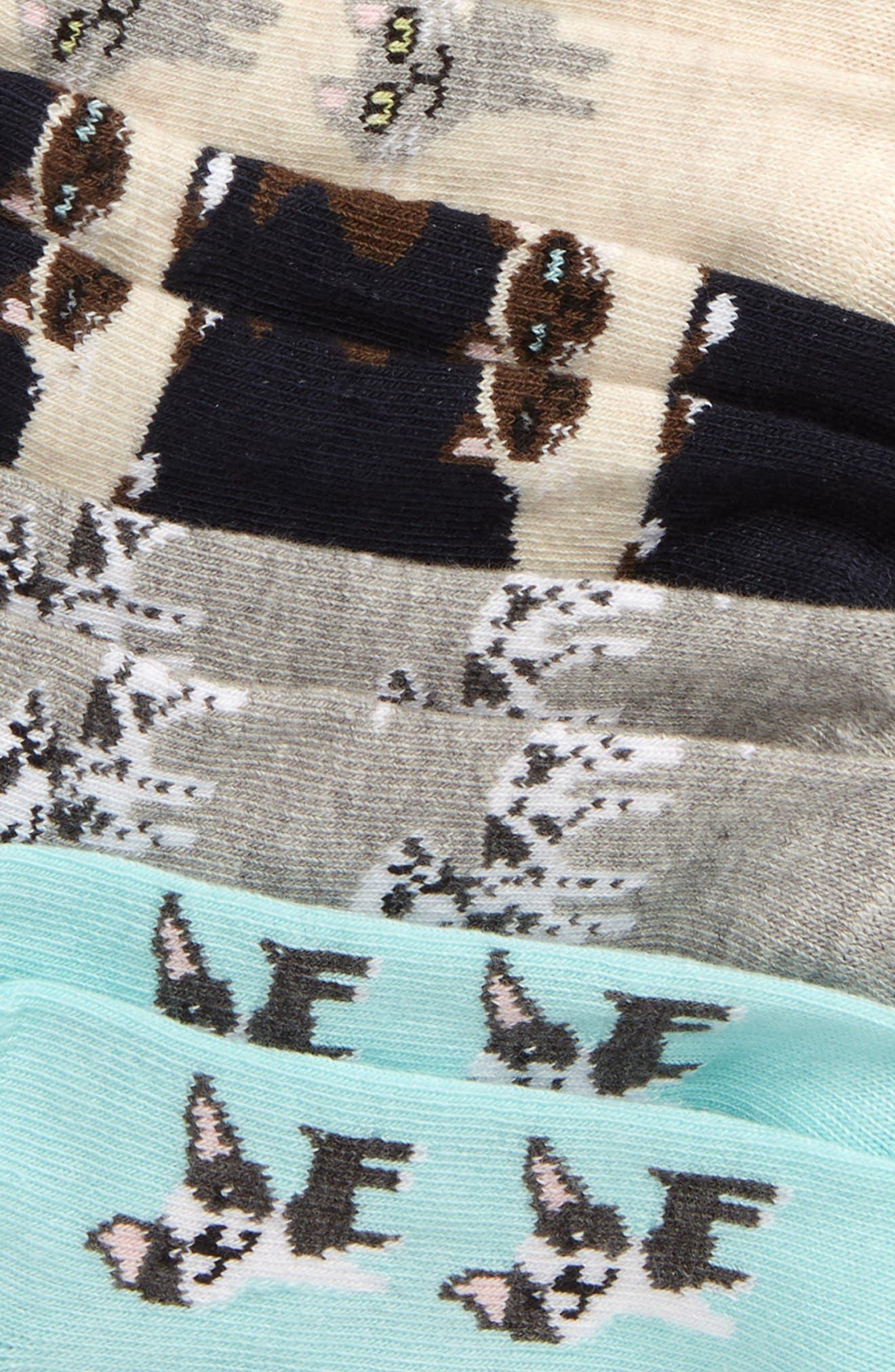 TUCKER + TATE, 6-Pack Low Cut Socks, Alternate thumbnail 2, color, GREY MEDIUM HEATHER DALMATION