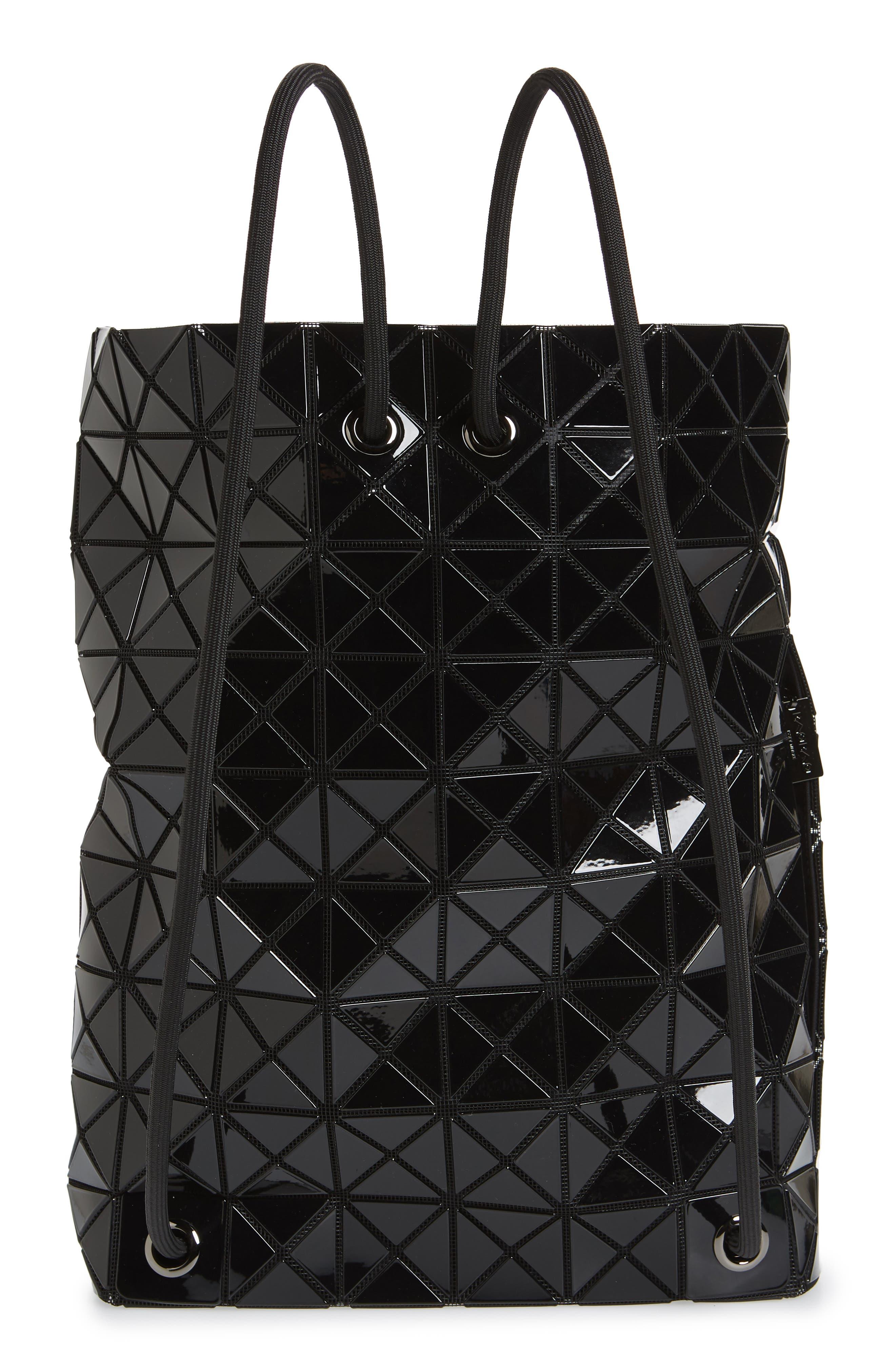 BAO BAO ISSEY MIYAKE, Wring Flat Backpack, Alternate thumbnail 4, color, BLACK