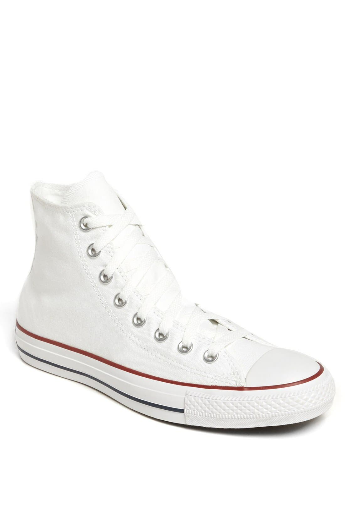 CONVERSE, Chuck Taylor<sup>®</sup> High Top Sneaker, Main thumbnail 1, color, OPTIC WHITE