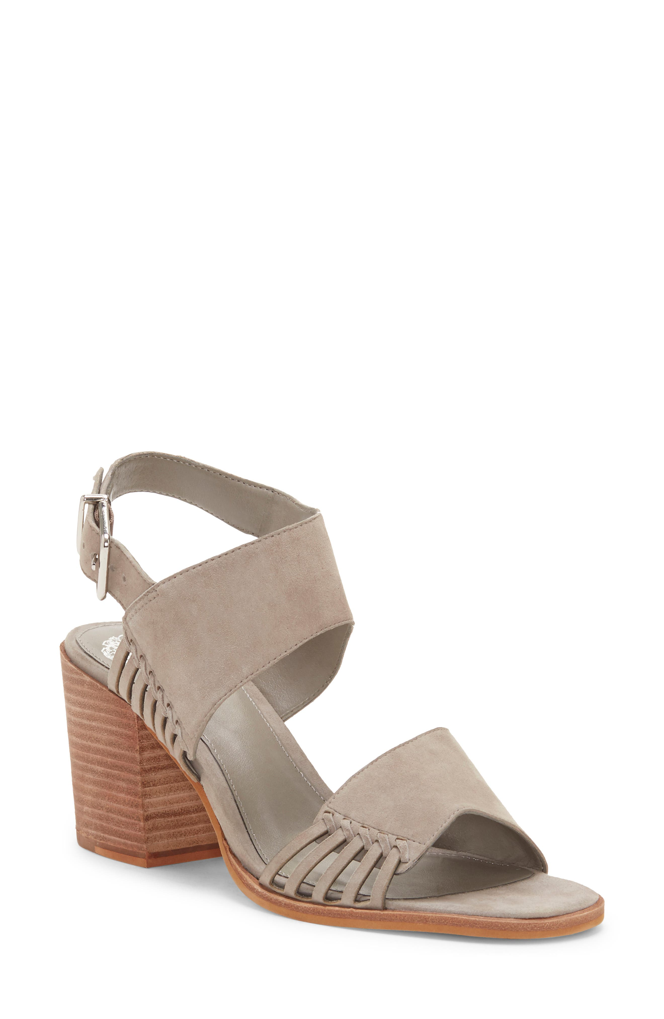 VINCE CAMUTO Karmelo Slingback Sandal, Main, color, STORM GREY LEATHER