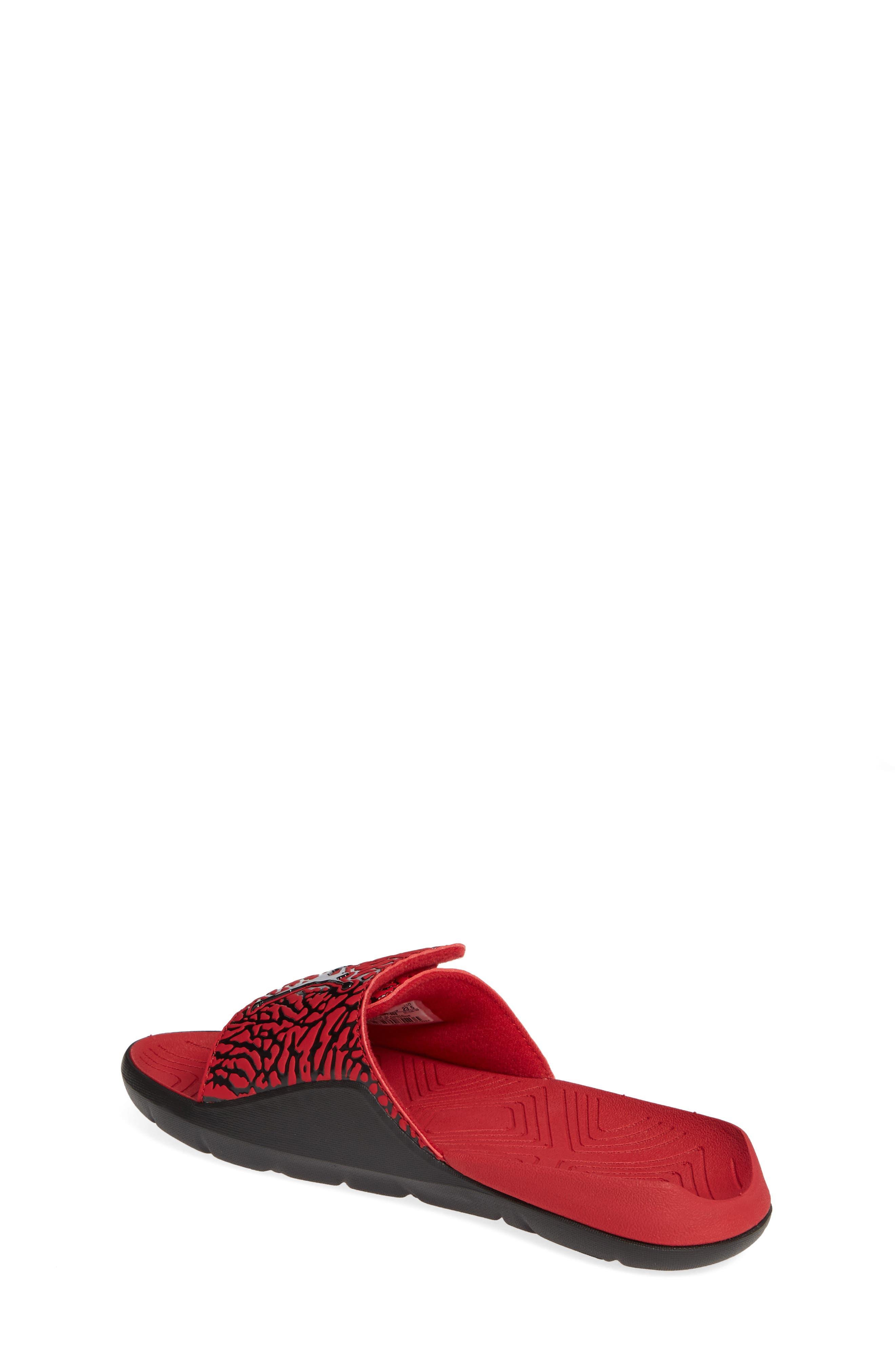JORDAN, Hydro 7 V2 Sandal, Alternate thumbnail 2, color, GYM RED/ BLACK