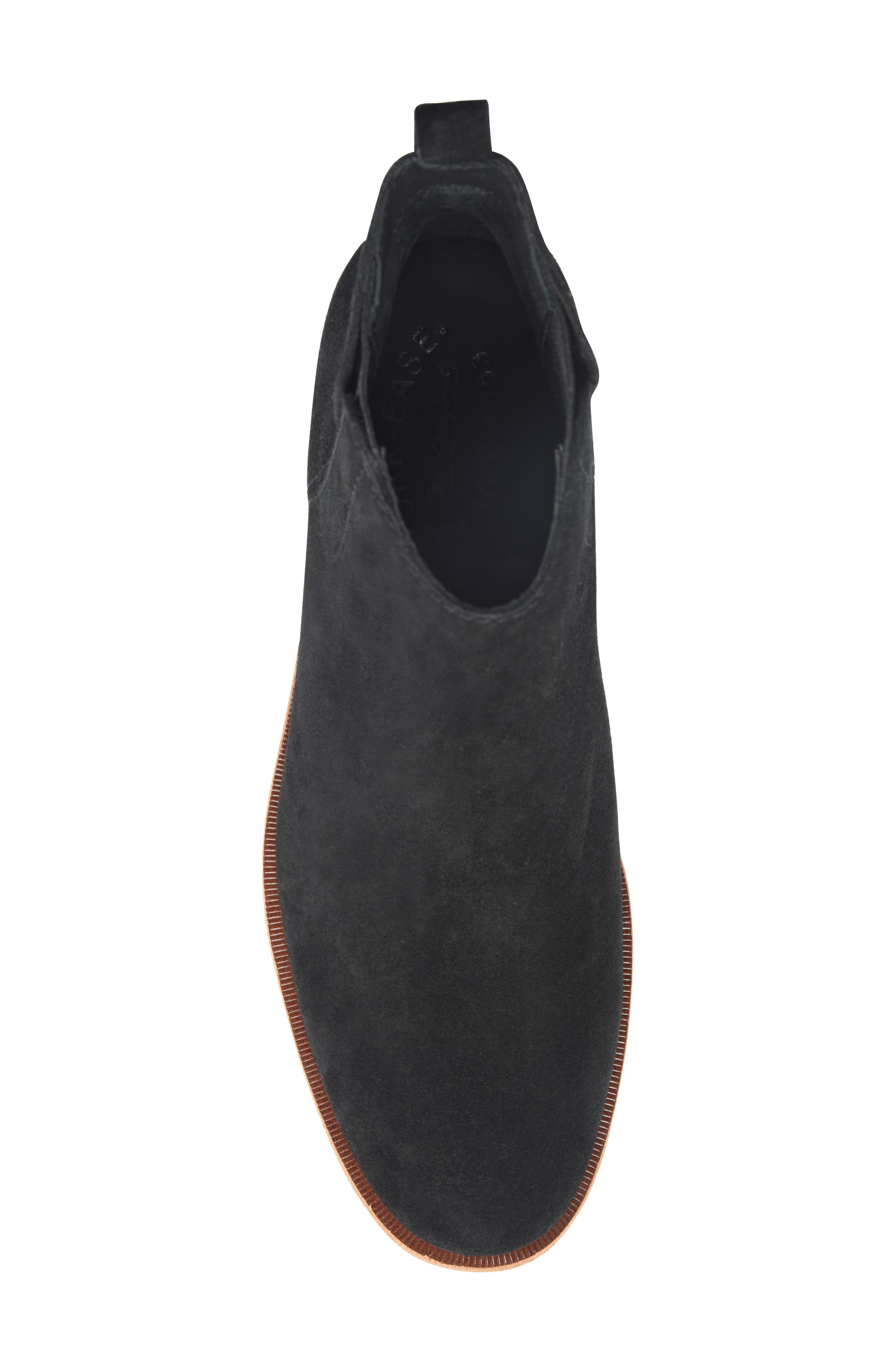 KORK-EASE<SUP>®</SUP>, Mindo Chelsea Bootie, Alternate thumbnail 5, color, BLACK SUEDE