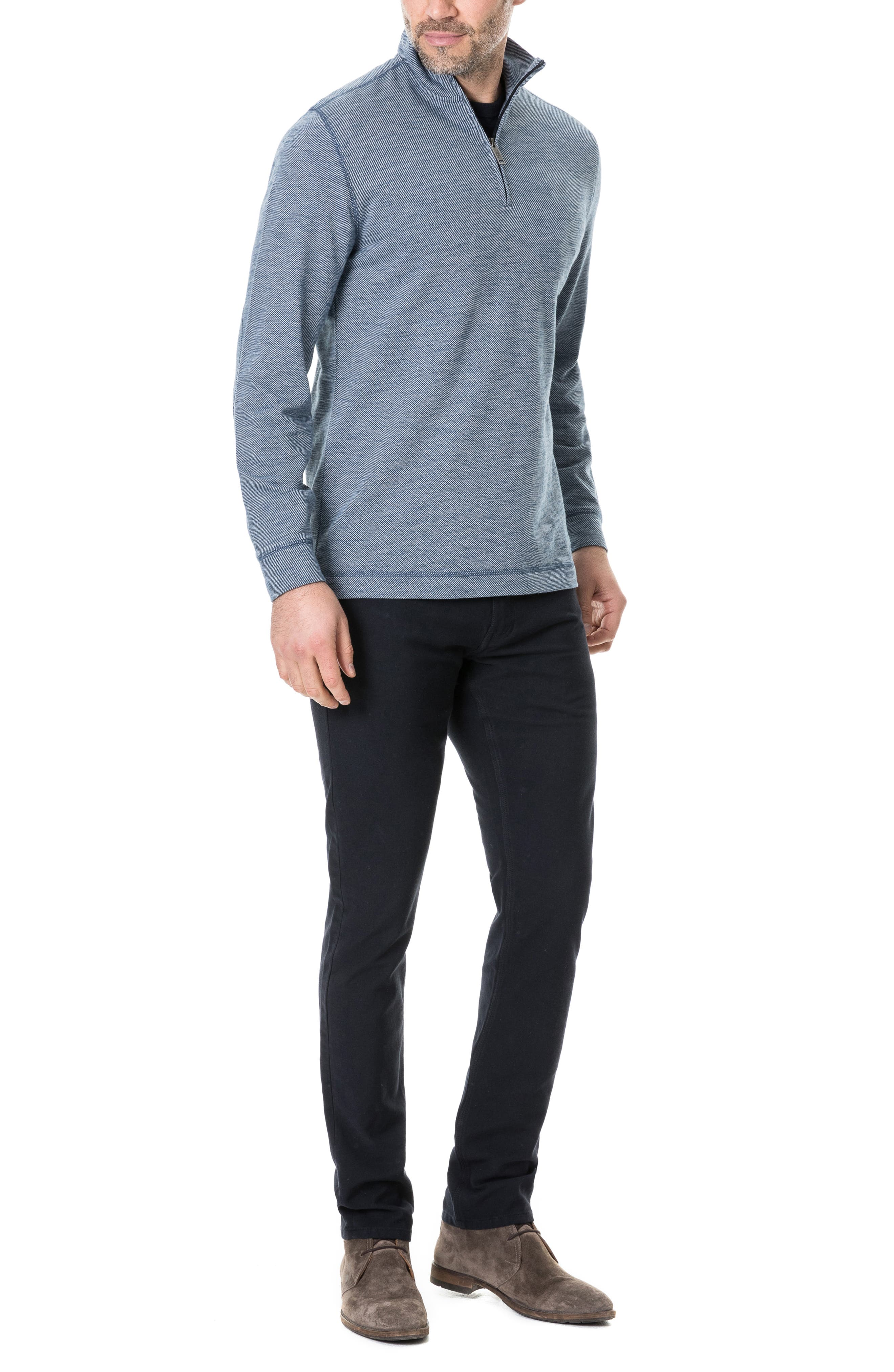 RODD & GUNN, Anvil Island Regular Fit Pullover, Alternate thumbnail 5, color, DENIM BLUE