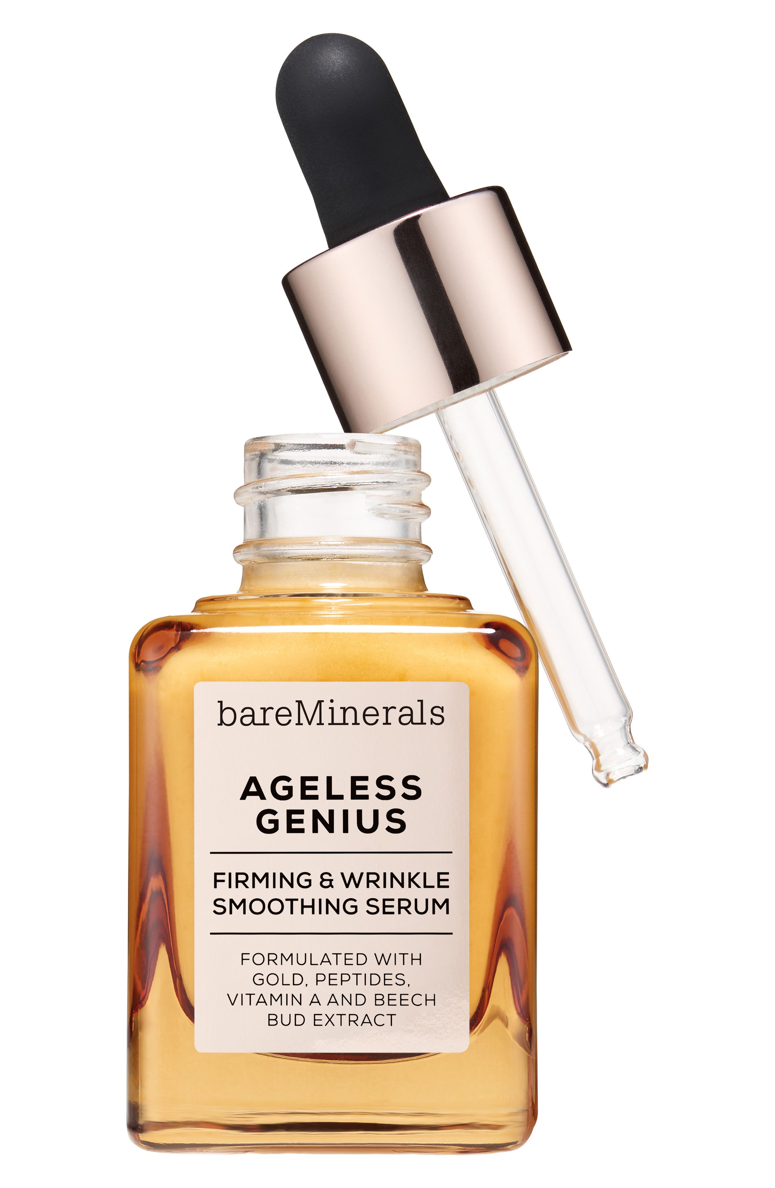 BAREMINERALS<SUP>®</SUP>, Ageless Genius Firming & Wrinkle Smoothing Serum, Alternate thumbnail 2, color, NO COLOR