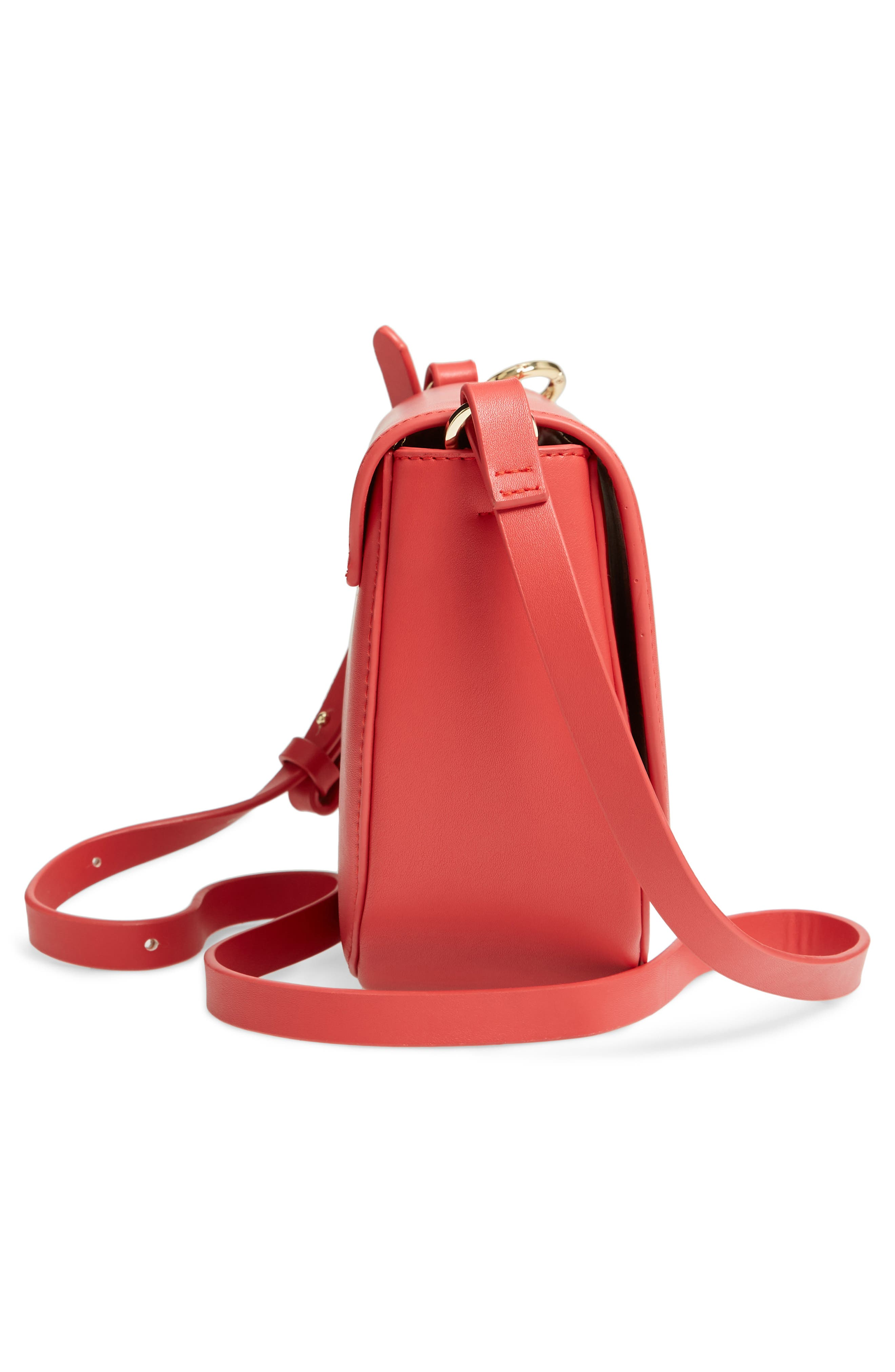 ESTELLA BARTLETT, Loman Faux Leather Saddle Bag, Alternate thumbnail 6, color, 600