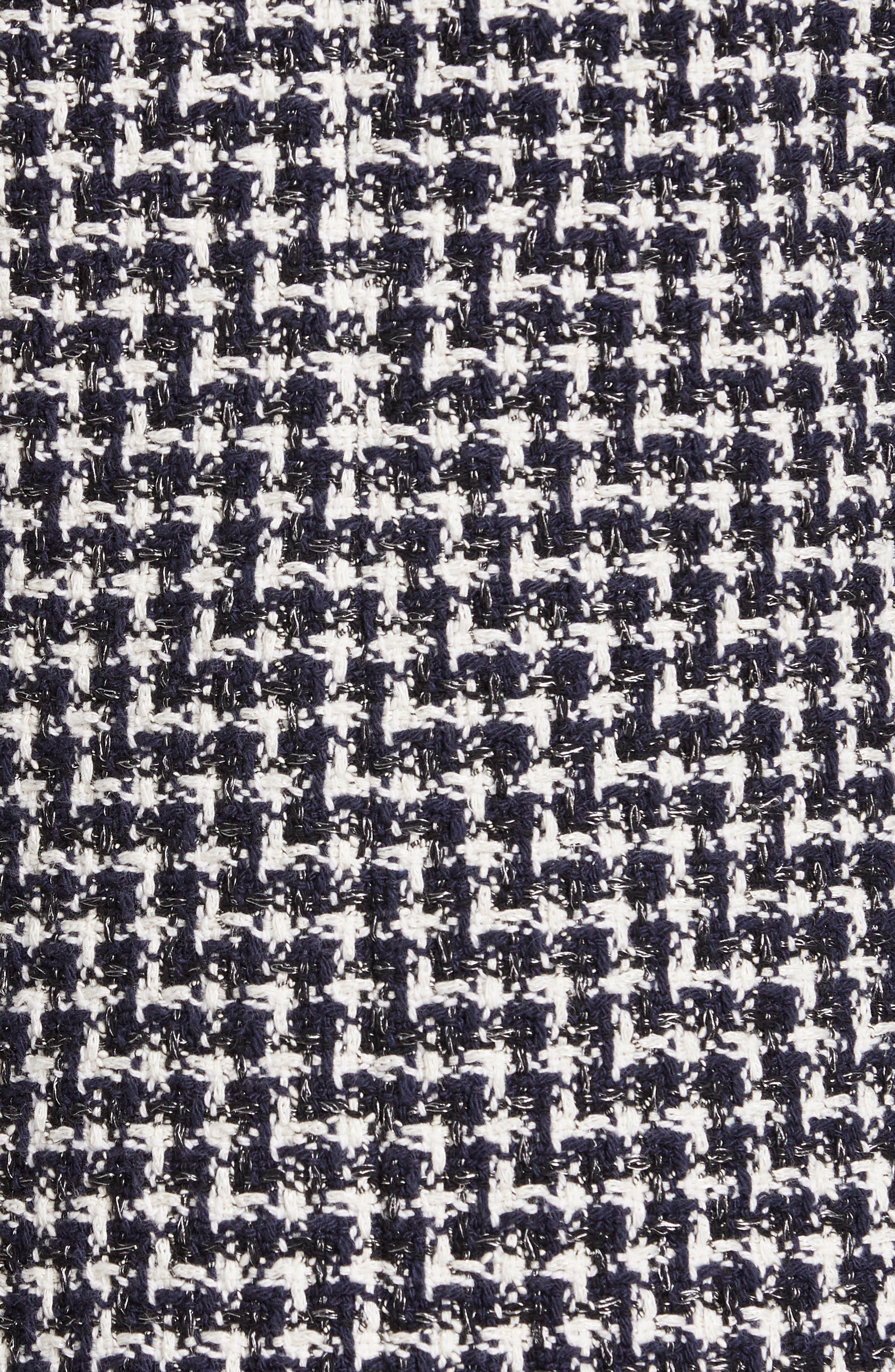 REBECCA TAYLOR, Tweed Jacket, Alternate thumbnail 7, color, BLACK COMBO