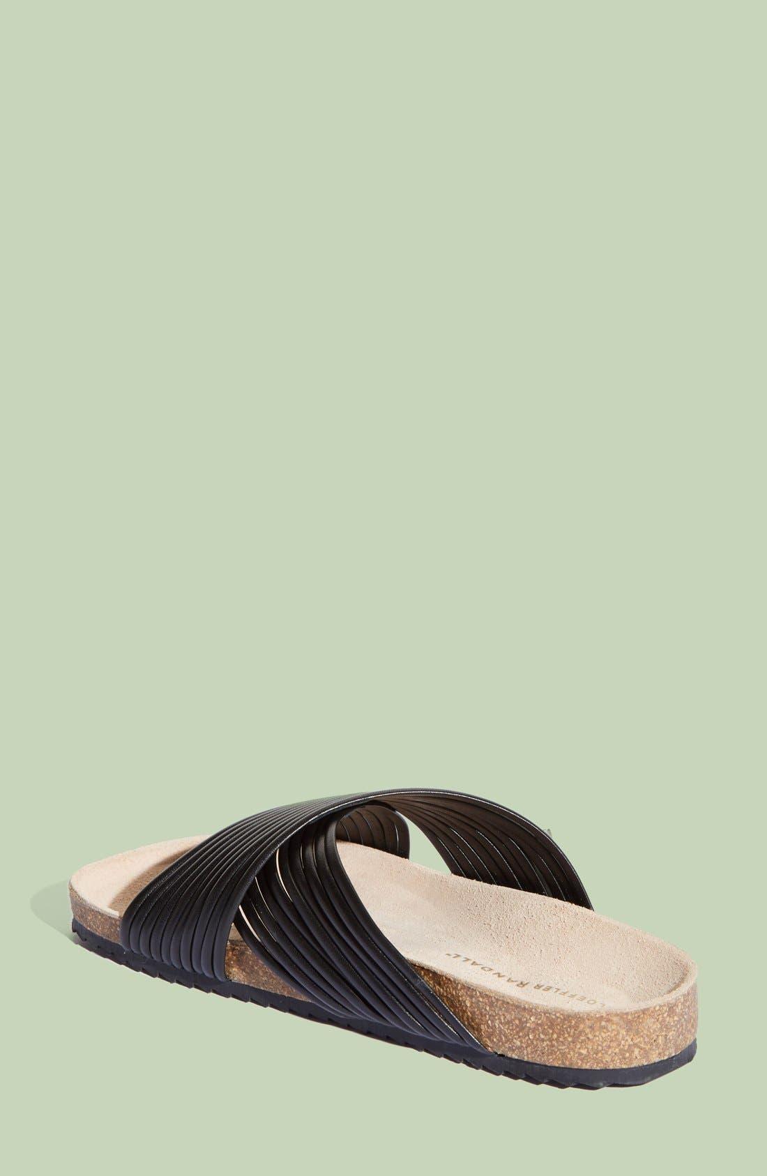 LOEFFLER RANDALL, 'Petra' Slide Footbed Sandal, Alternate thumbnail 4, color, 001