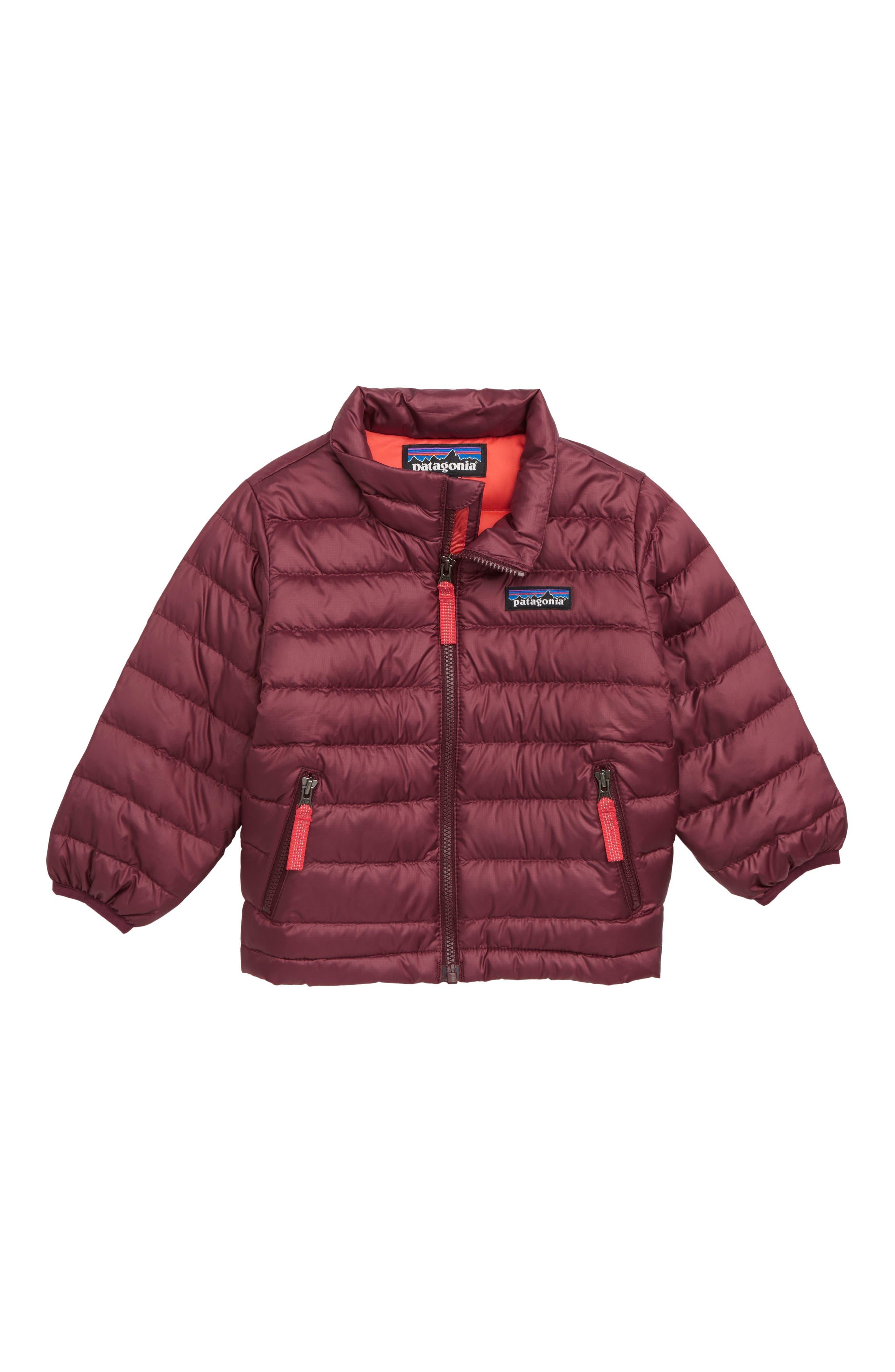 PATAGONIA Down Sweater Jacket, Main, color, DARK CURRANT